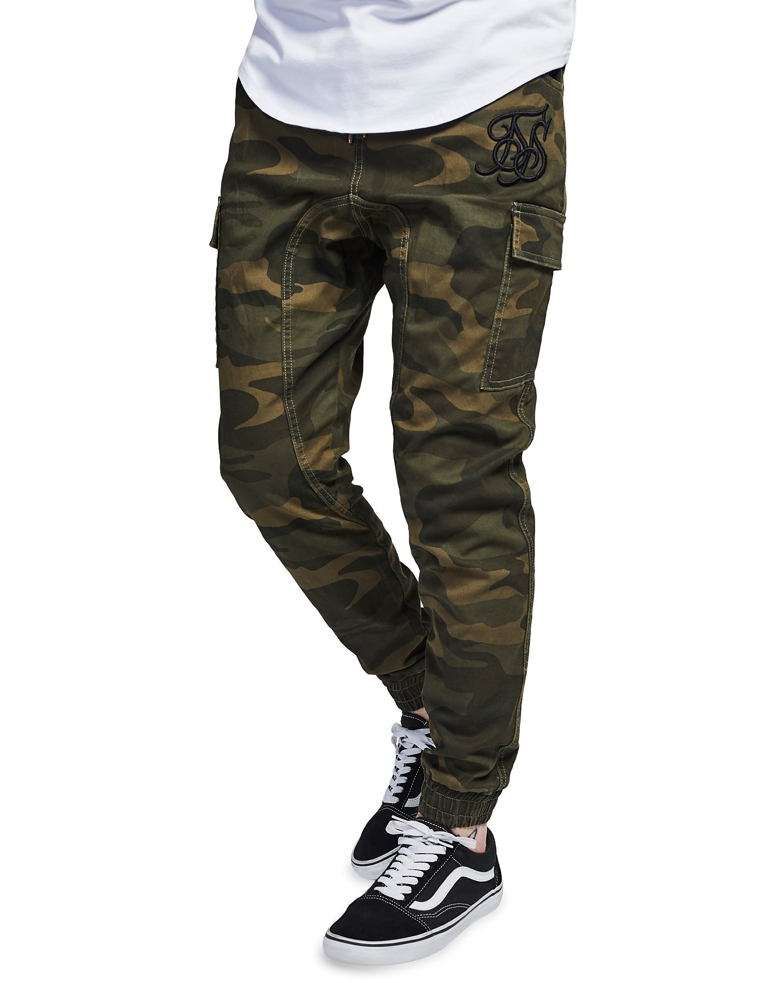 SikSilk Cargo Utility Track Pants