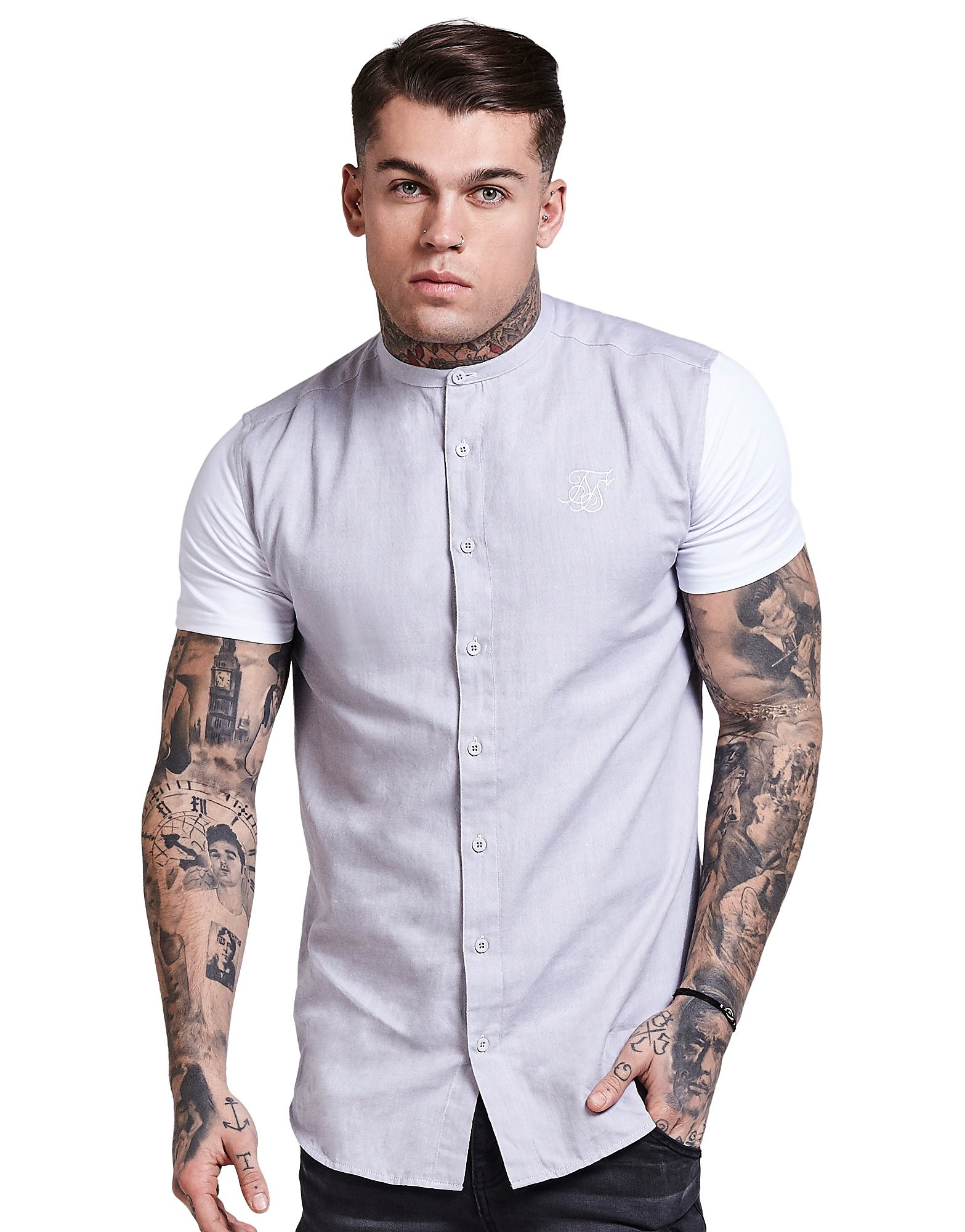 SikSilk T-shirt Contrast Oxford