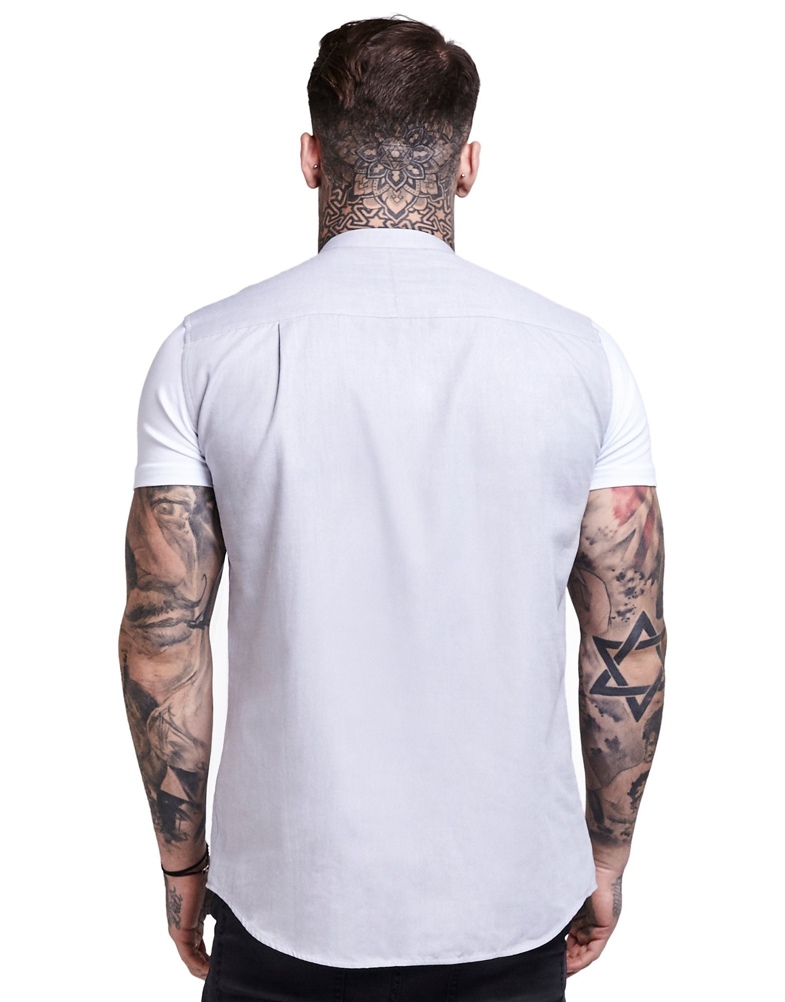 SikSilk Contrast Oxford Short Sleeve Shirt