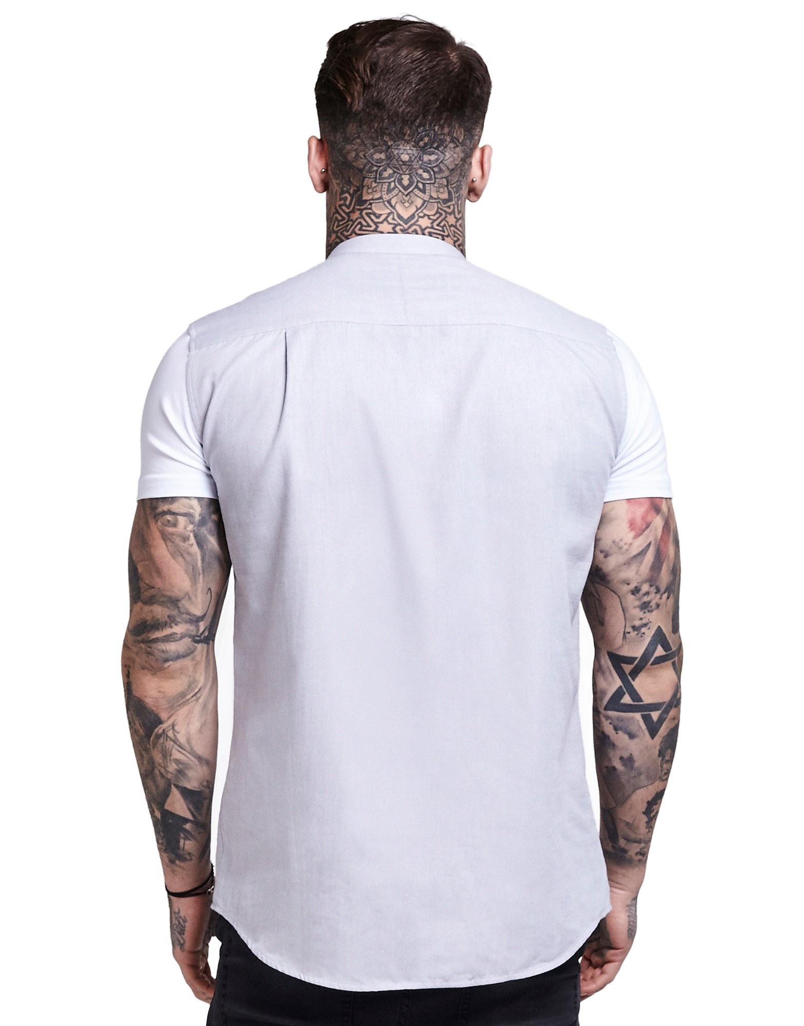 SikSilk Contrast Oxford Short Sleeve Shirt