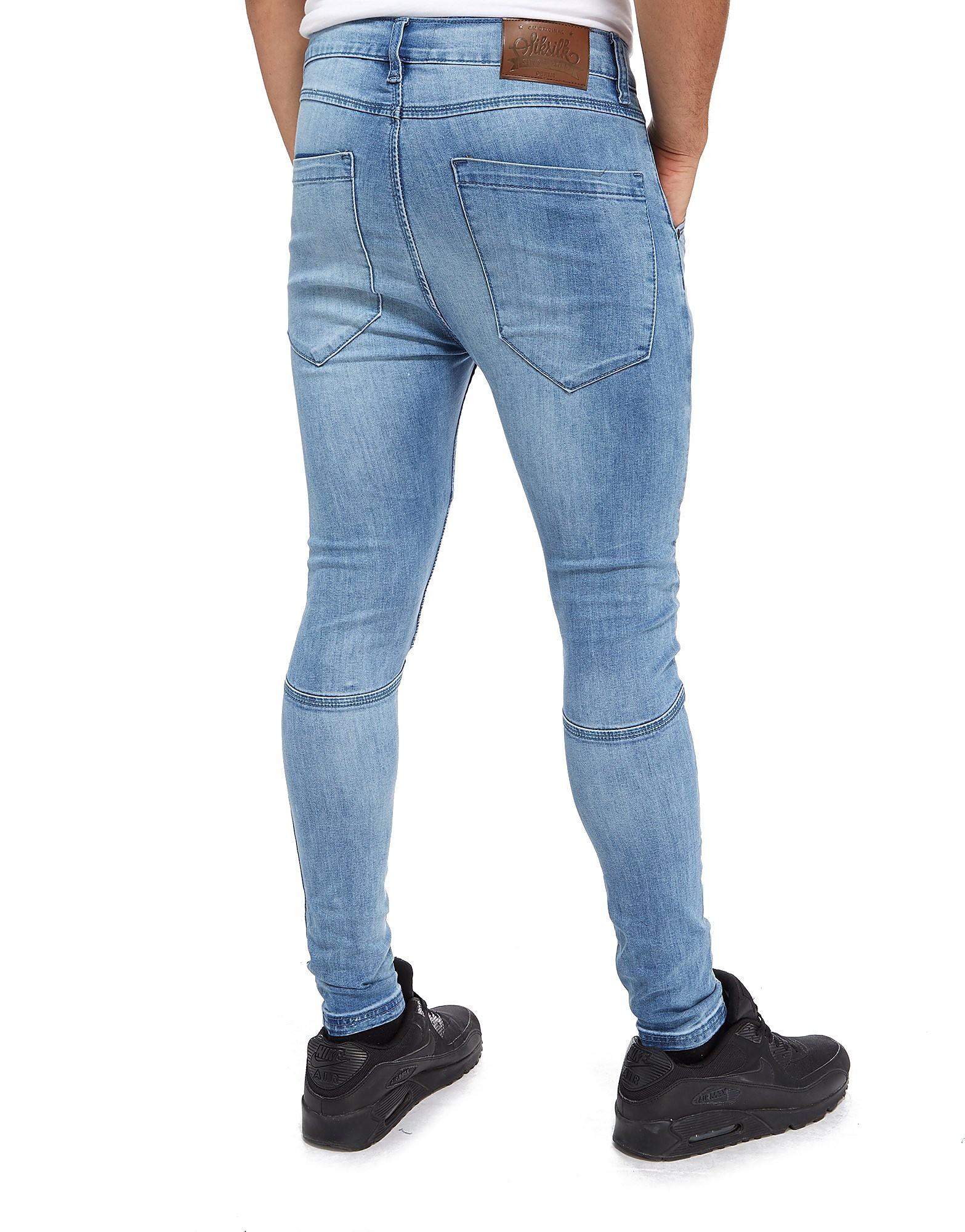 SikSilk Jean Extreme Biker Skinny Homme