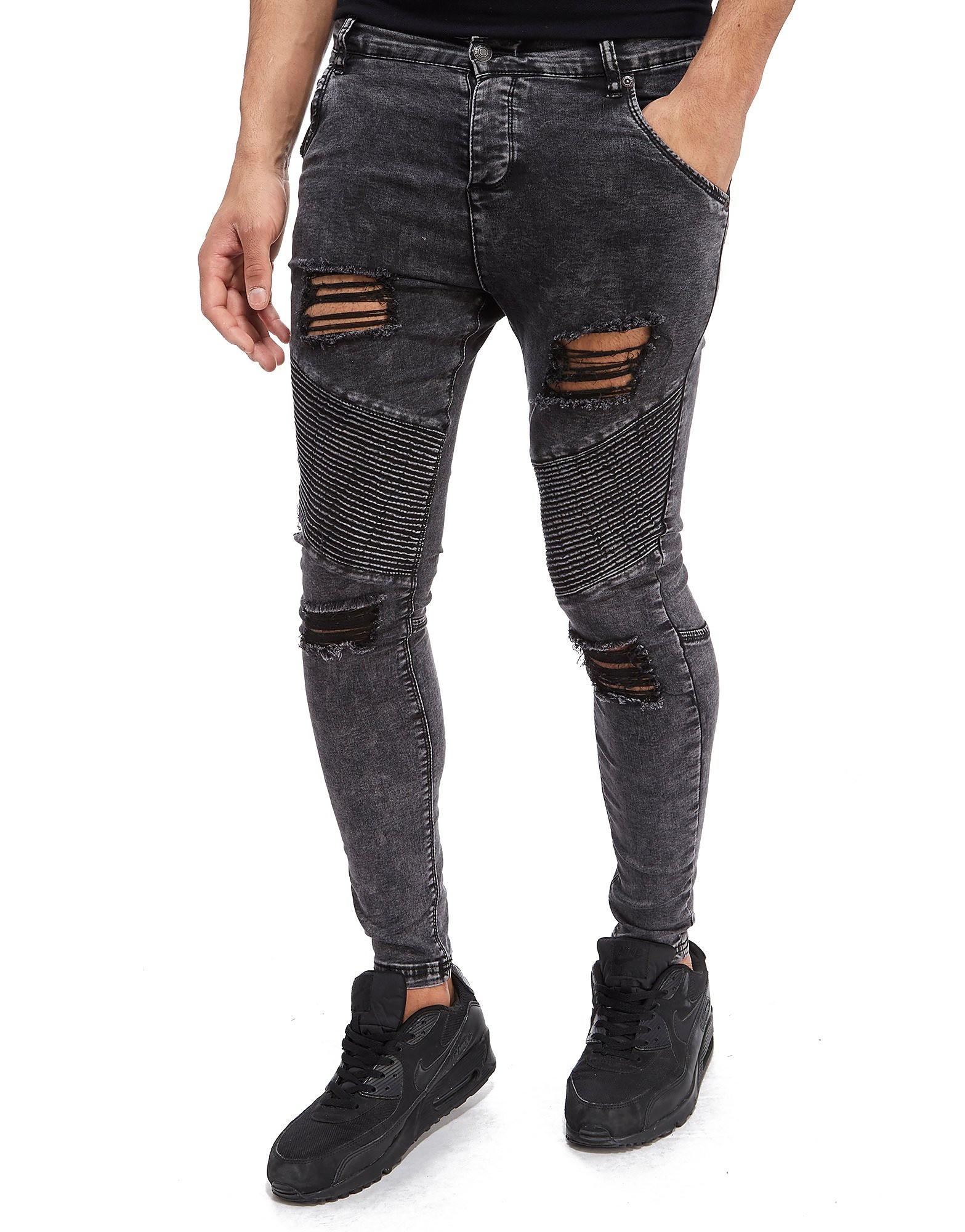 SikSilk Extreme Biker Skinny Jeans