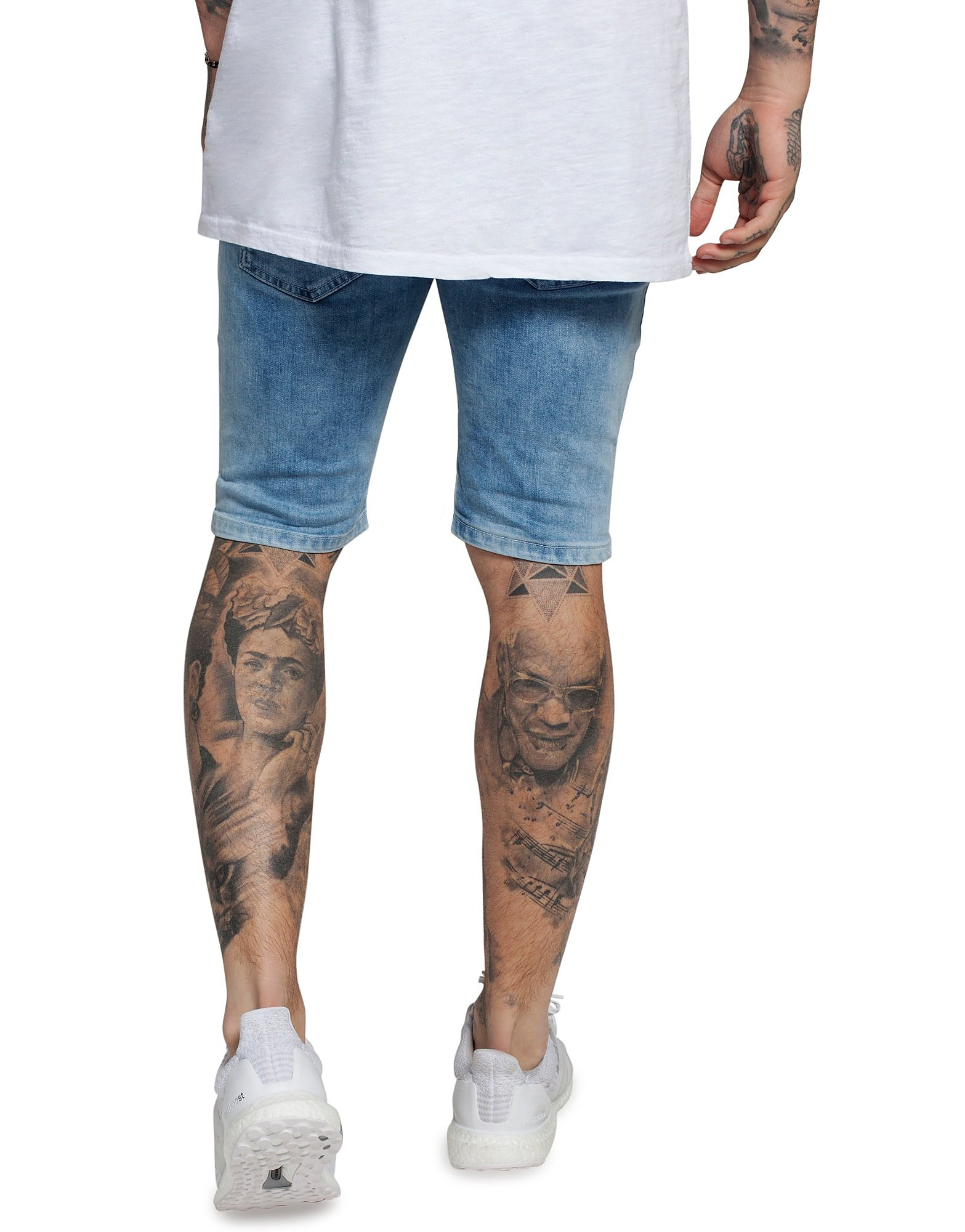 SikSilk Distressed Denim Shorts