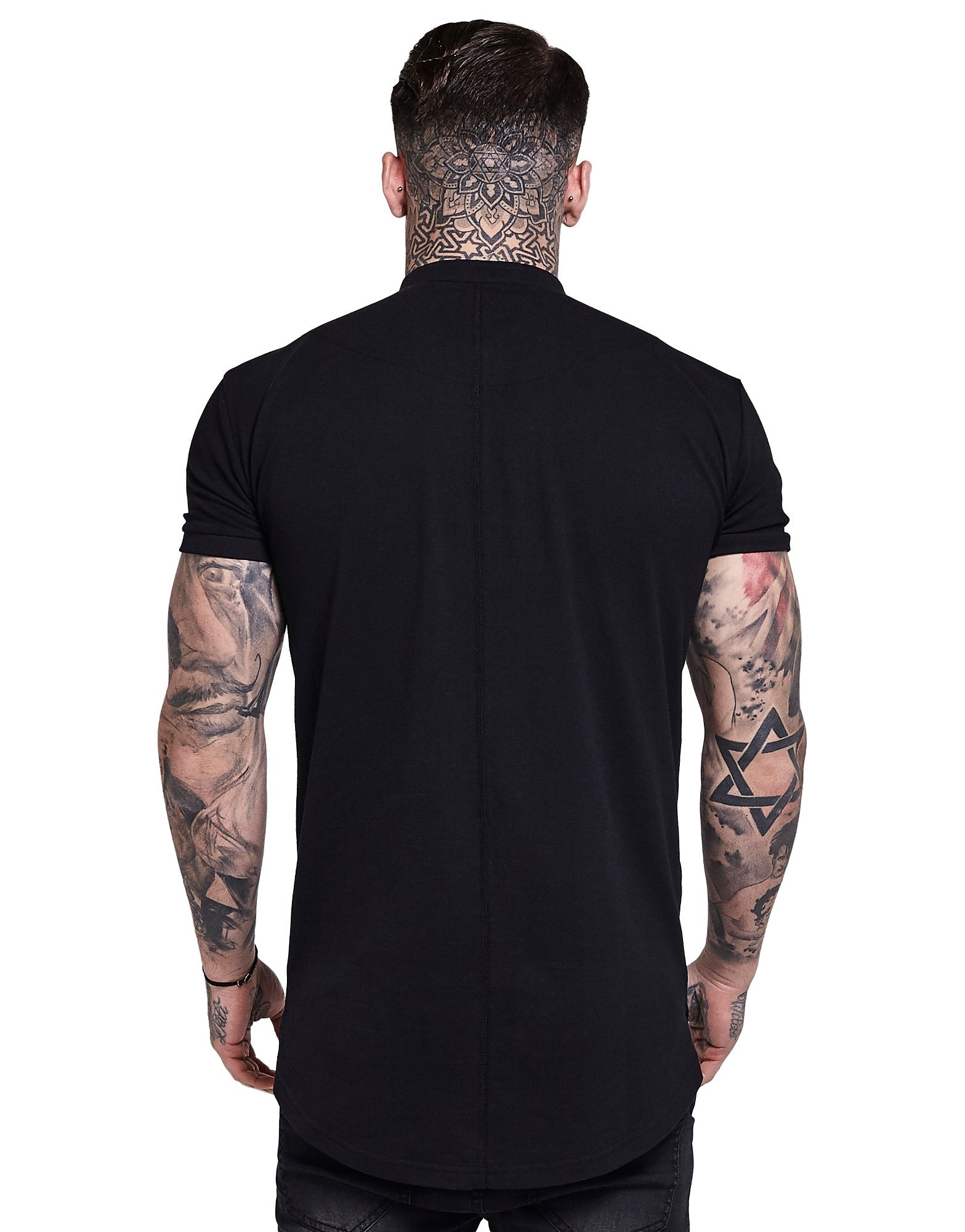 SikSilk Collarless Polo Shirt