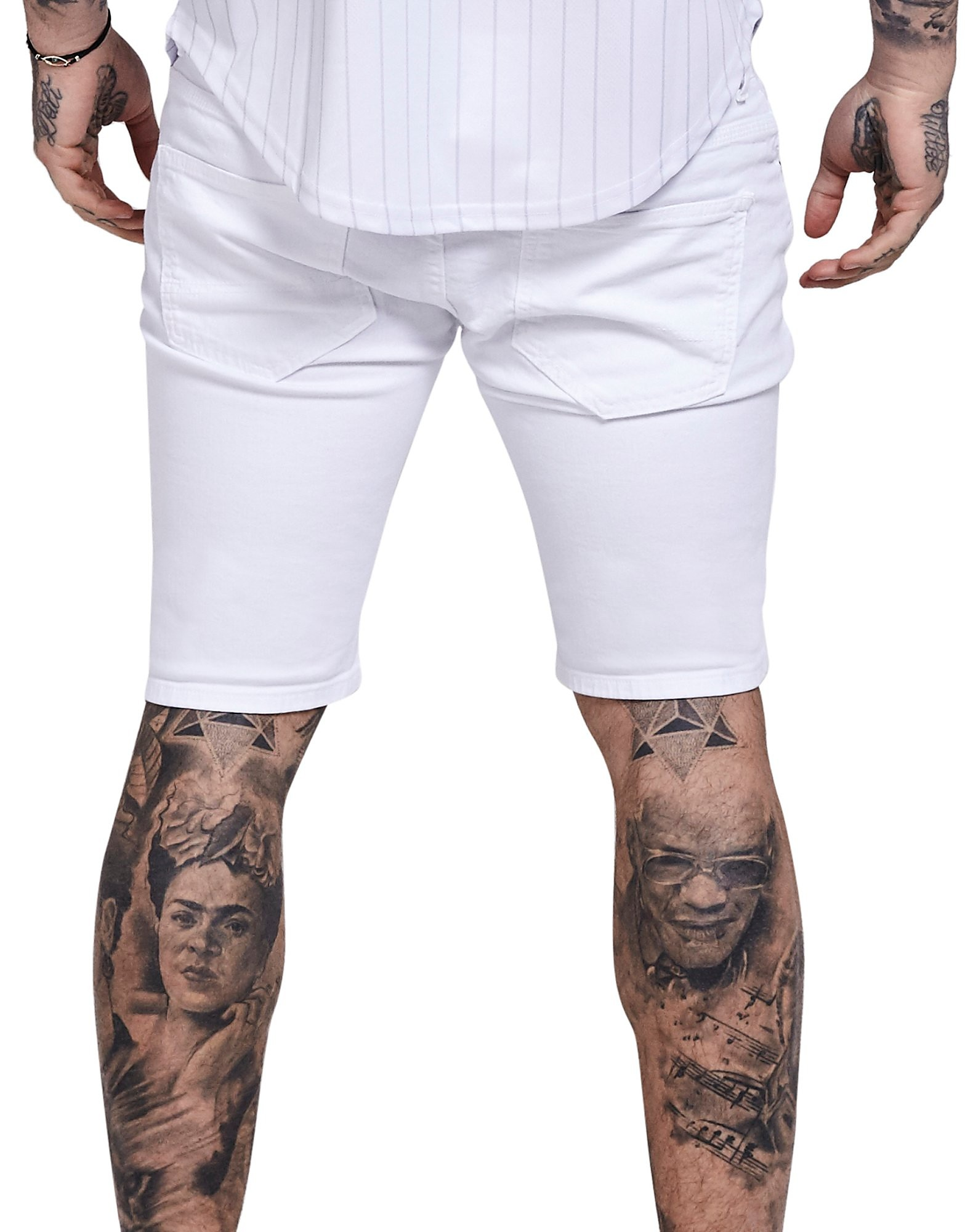 SikSilk Ripped Denim Shorts