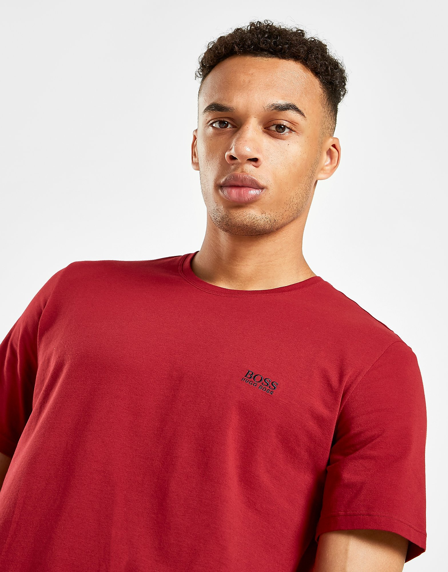 BOSS Green Basic T-Shirt - Burgundy - Heren