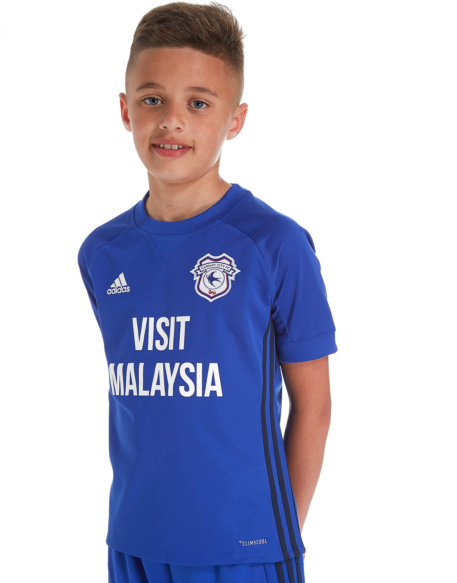 adidas Cardiff City 2017/18 Home Shirt Junior