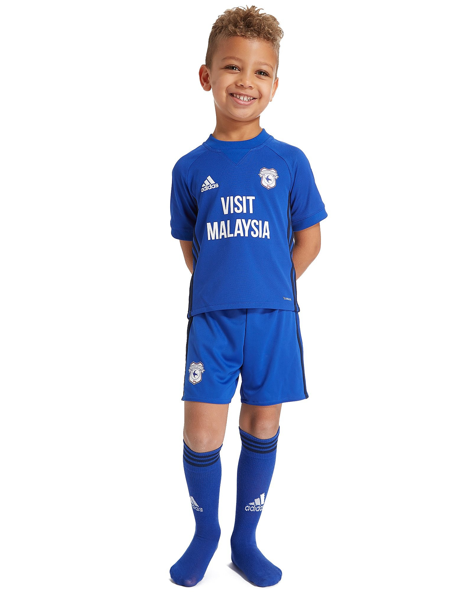 adidas Cardiff City 2017/18 Home Kit Children