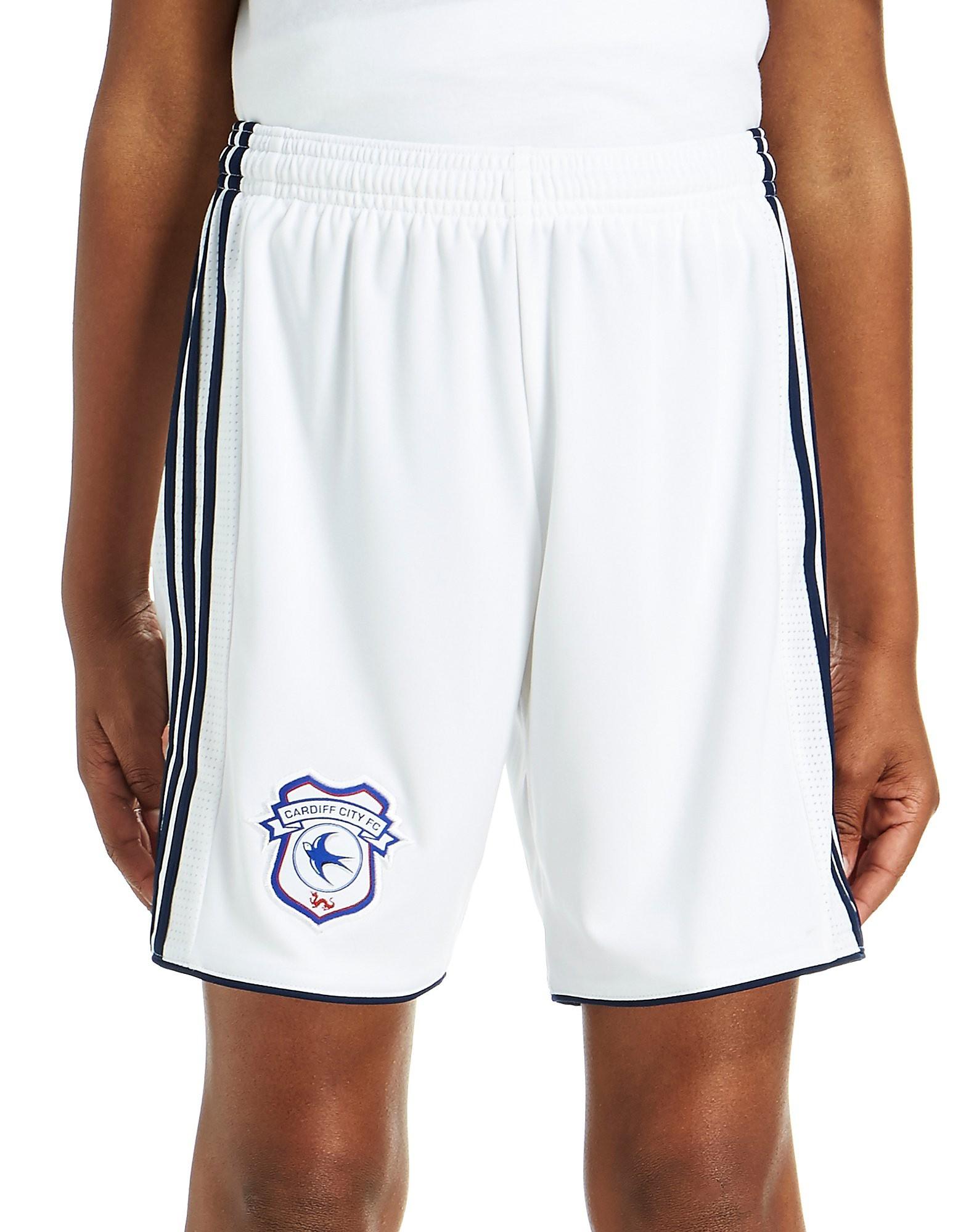 adidas Cardiff City 2017/18 Away Shorts Junior - blanc, blanc