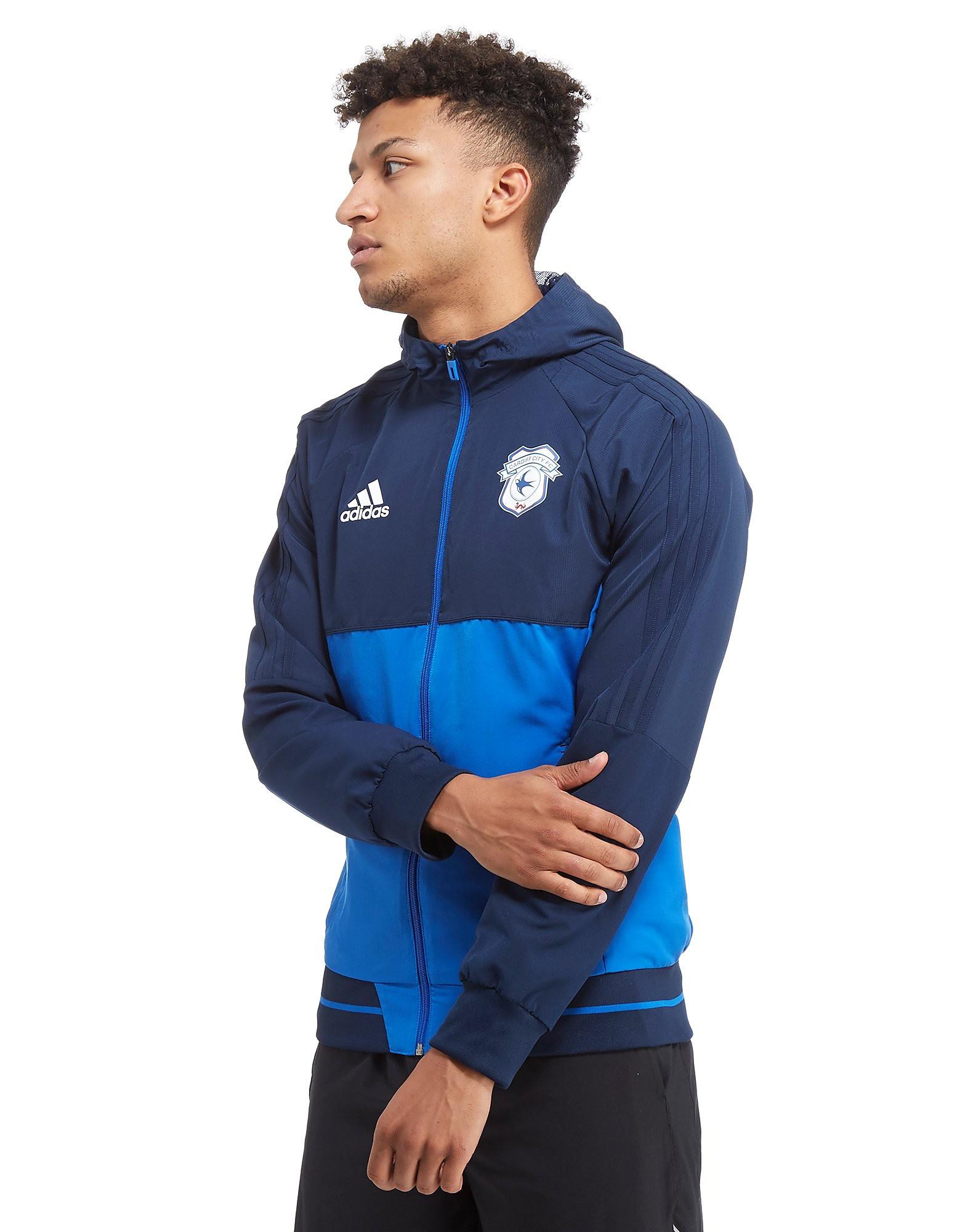 adidas Veste de survêtement Cardiff city FC 2017 Presentation