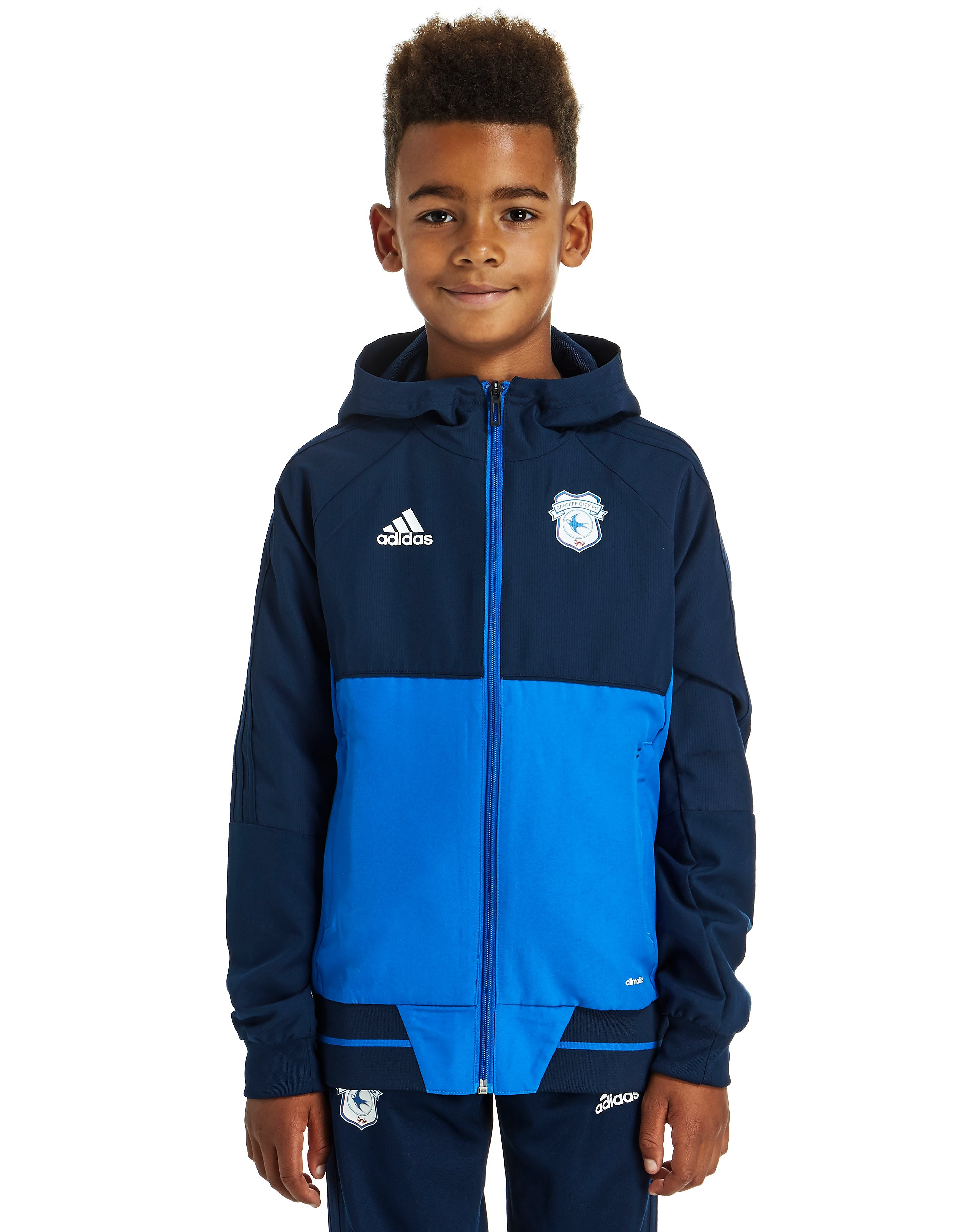 adidas Cardiff City FC 2017 Presentation Jacket Junior