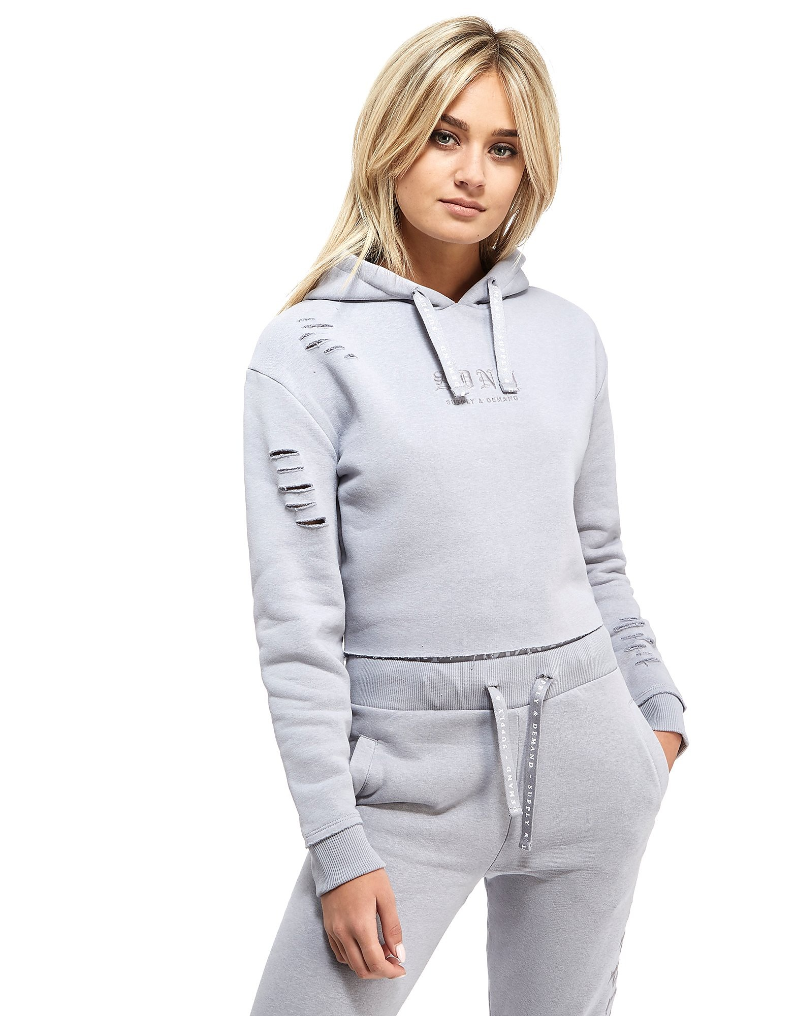 Supply & Demand Ripped Crop Hoody