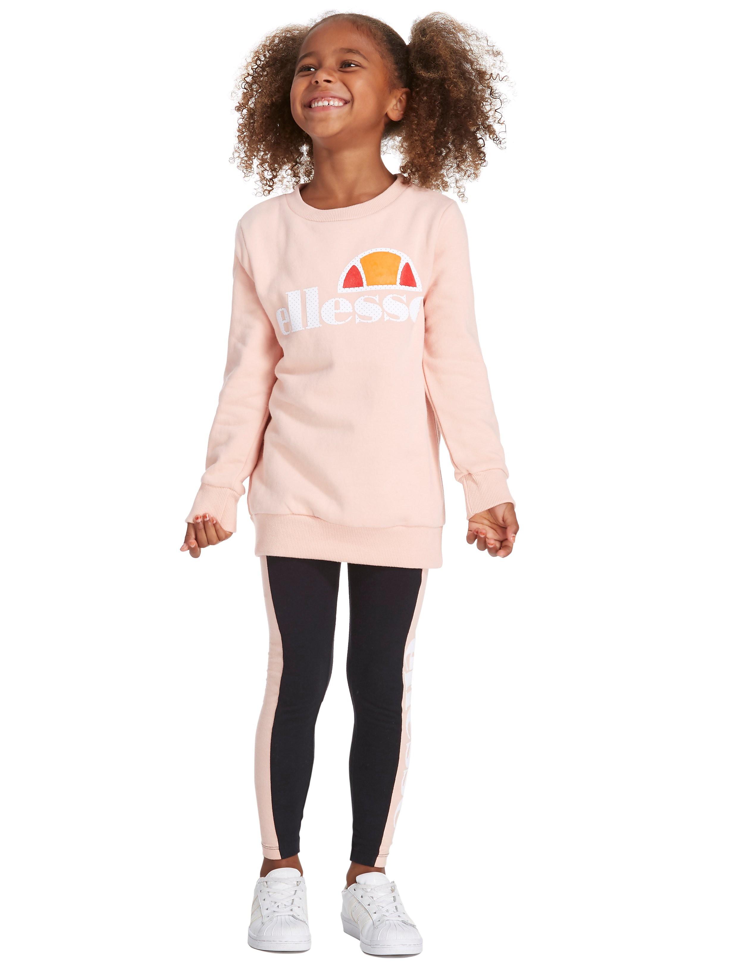 Ellesse Girls Augina Crew Tracksuit Children