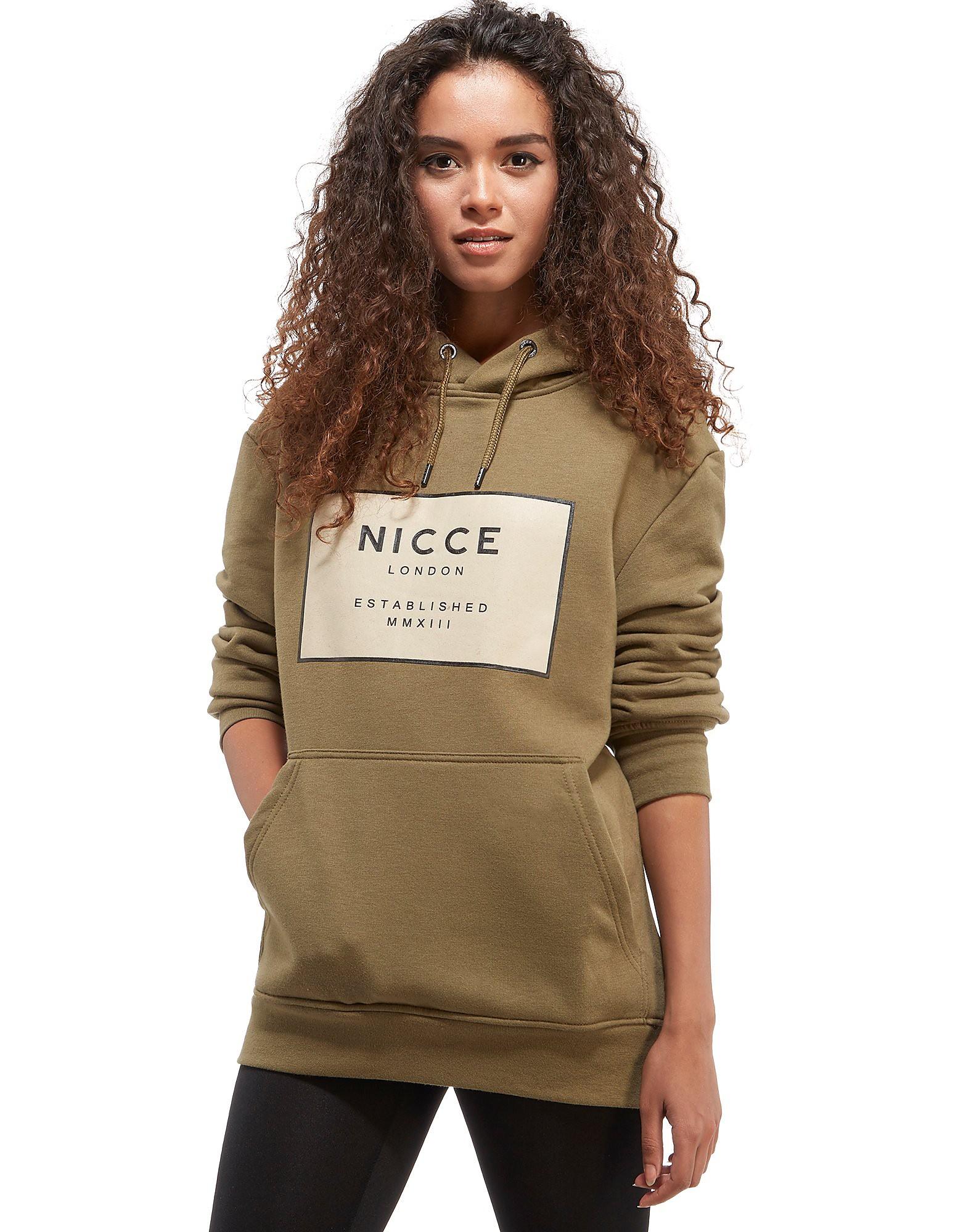 Nicce Box Logo Boyfriend Hoodie