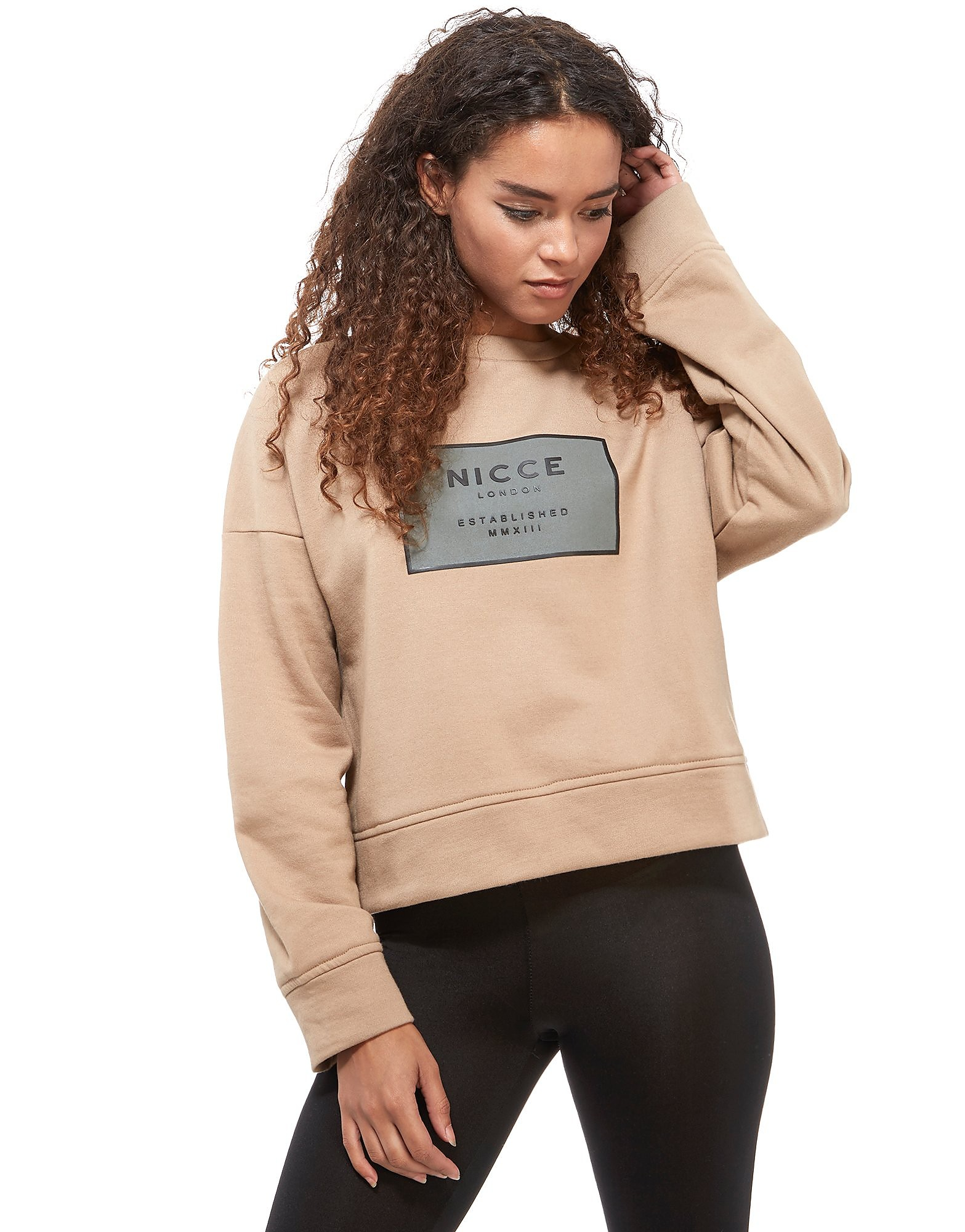 Nicce Box Logo Cropped Sweatshirt