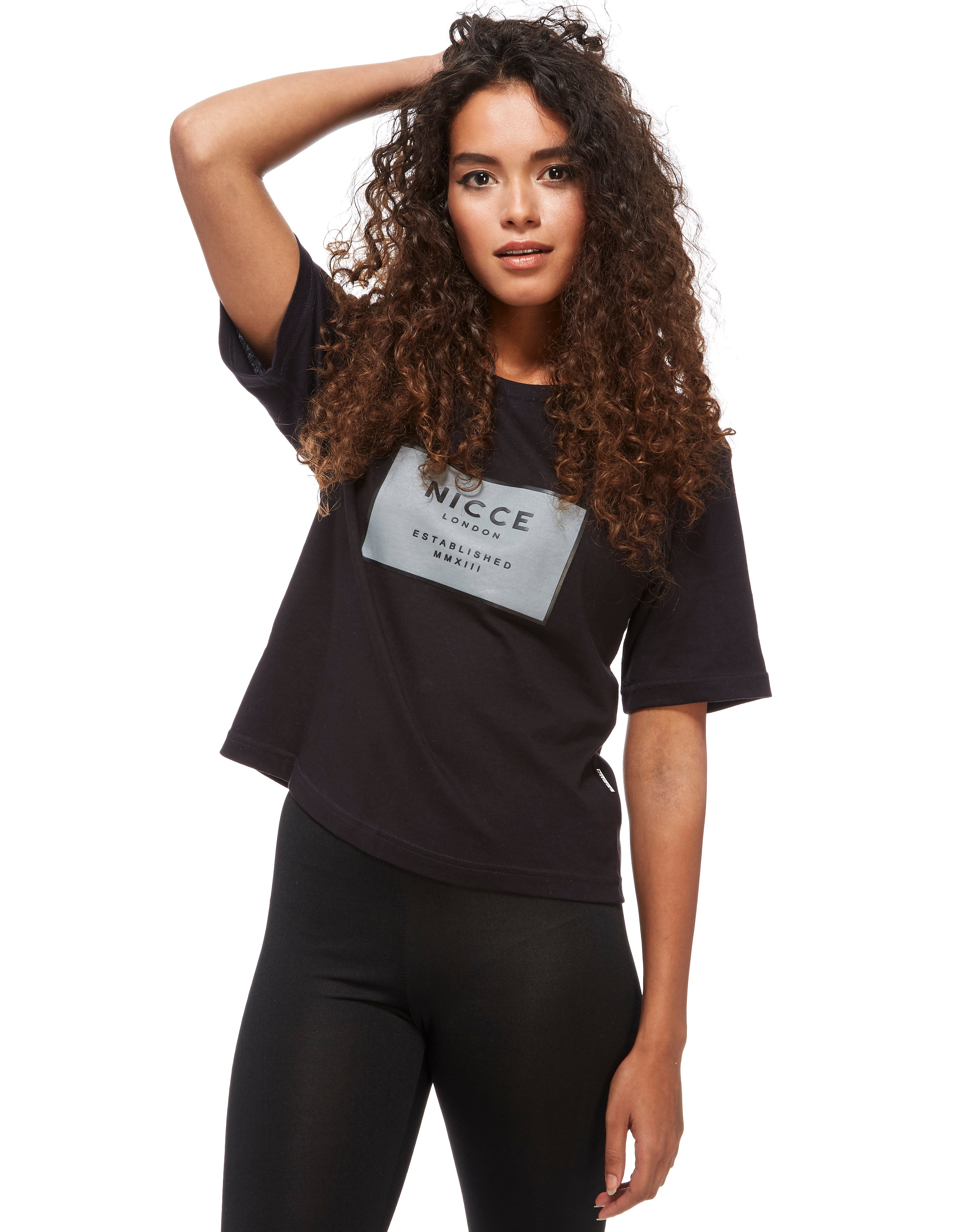 Nicce Midnight Blossom Cropped T-Shirt