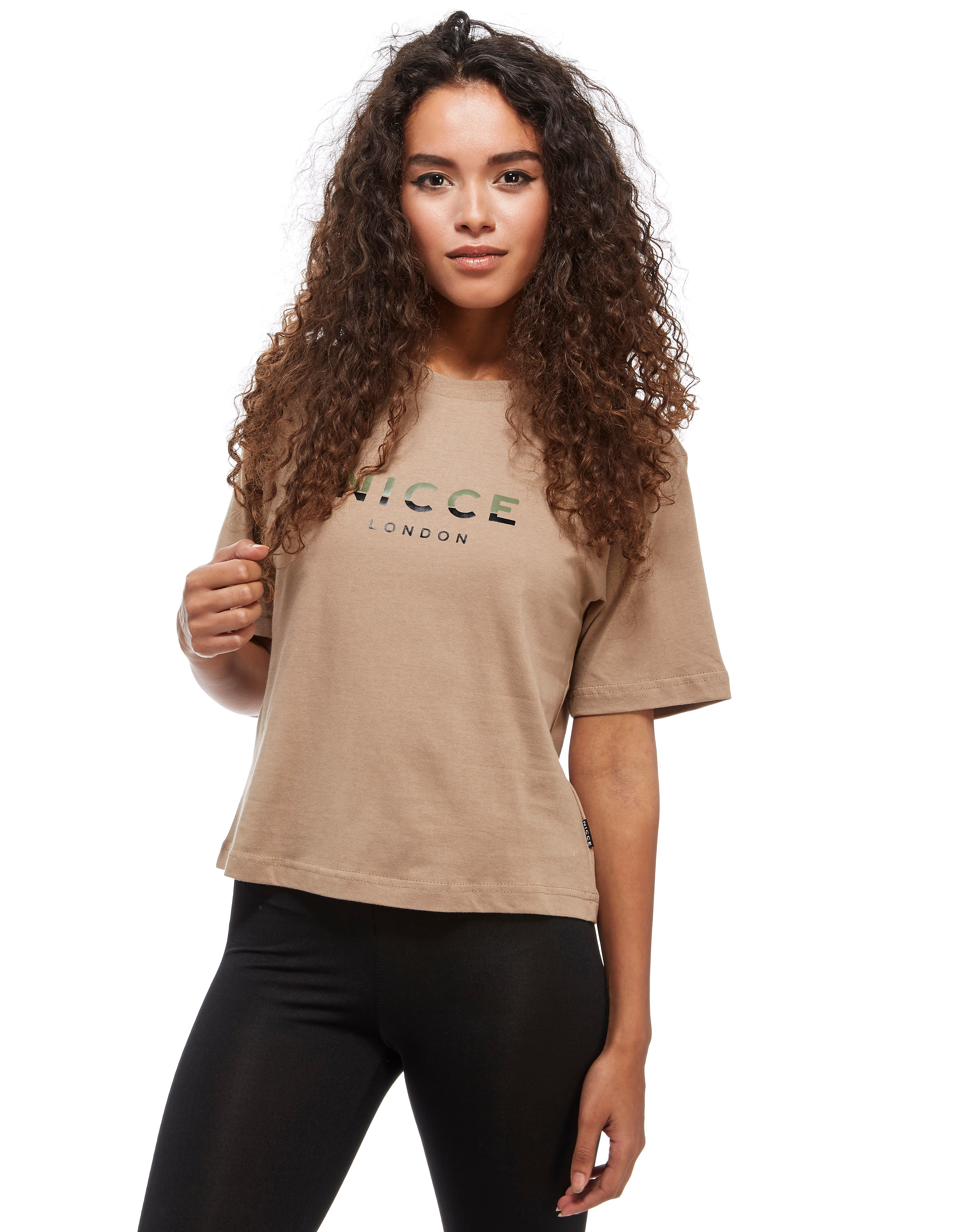 Nicce Slice Logo Cropped T-Shirt