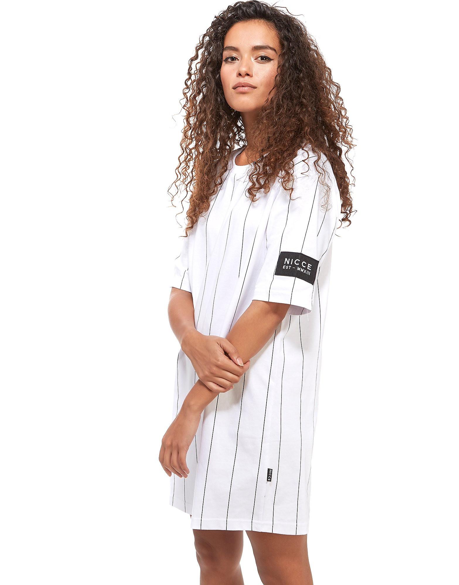 Nicce Needle Stripe T-shirt Vestito Donna