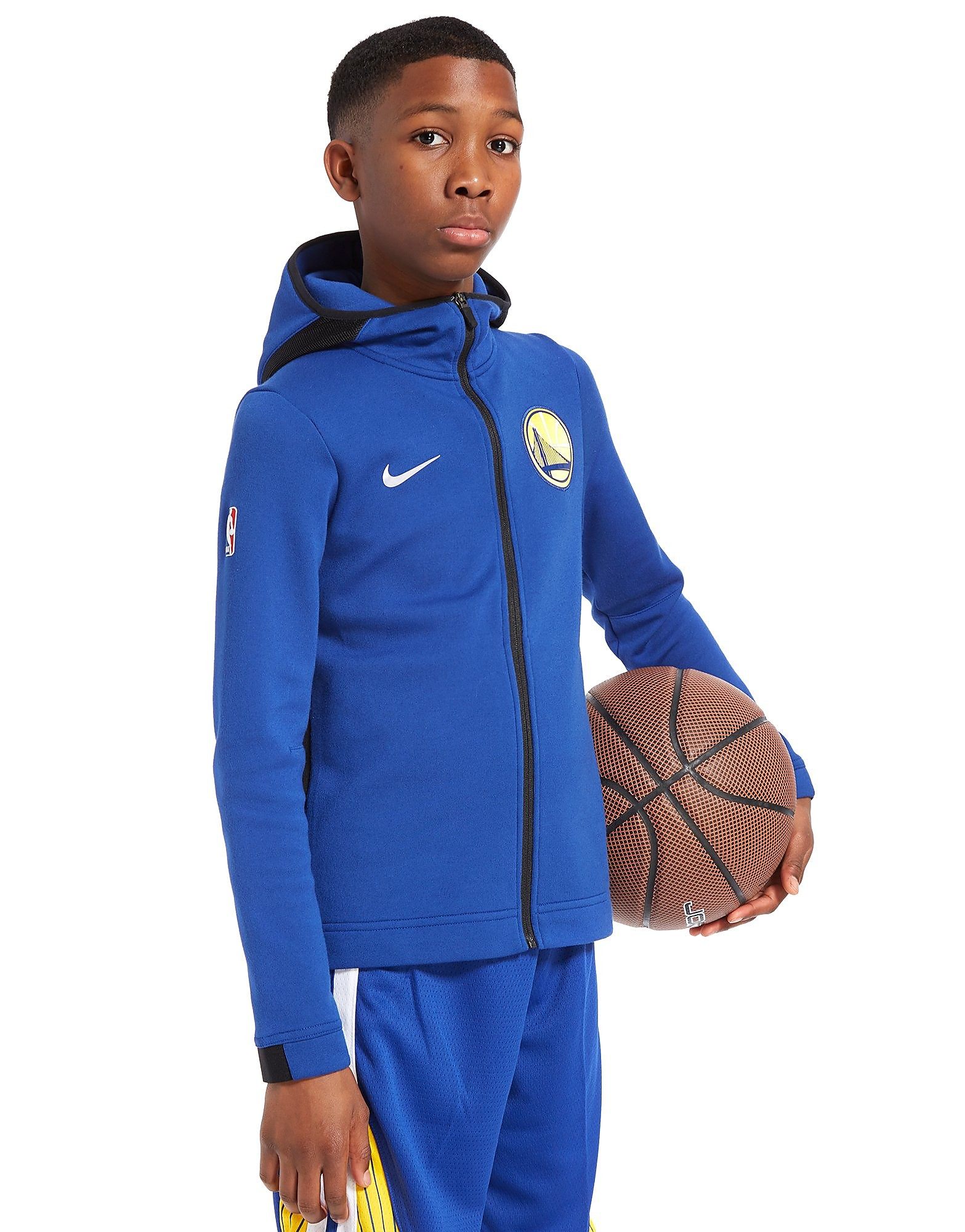 Nike Golden State Warriors Full Zip Hoodie Junior