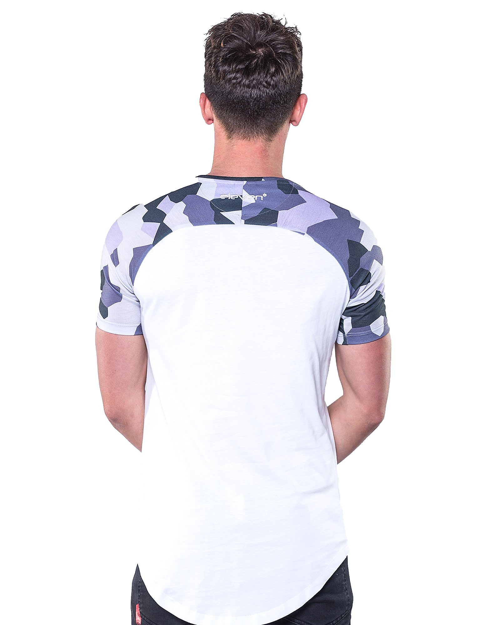11 Degrees Geo Camo Raglan T-Shirt