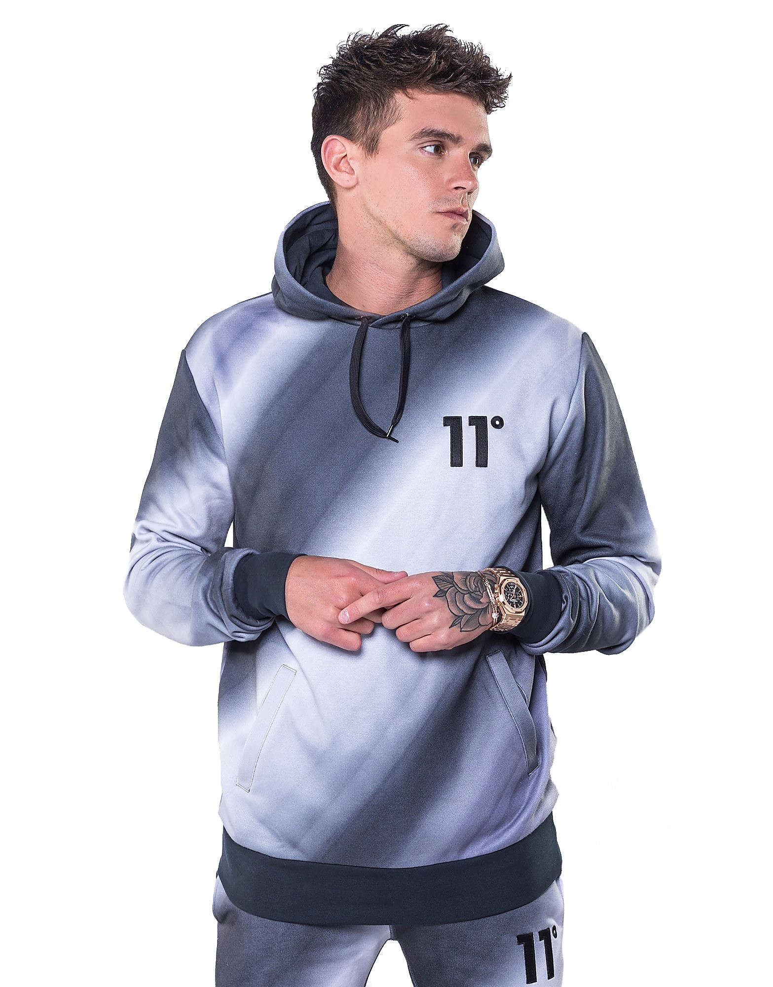 11 Degrees Mirrored Fade Hoody