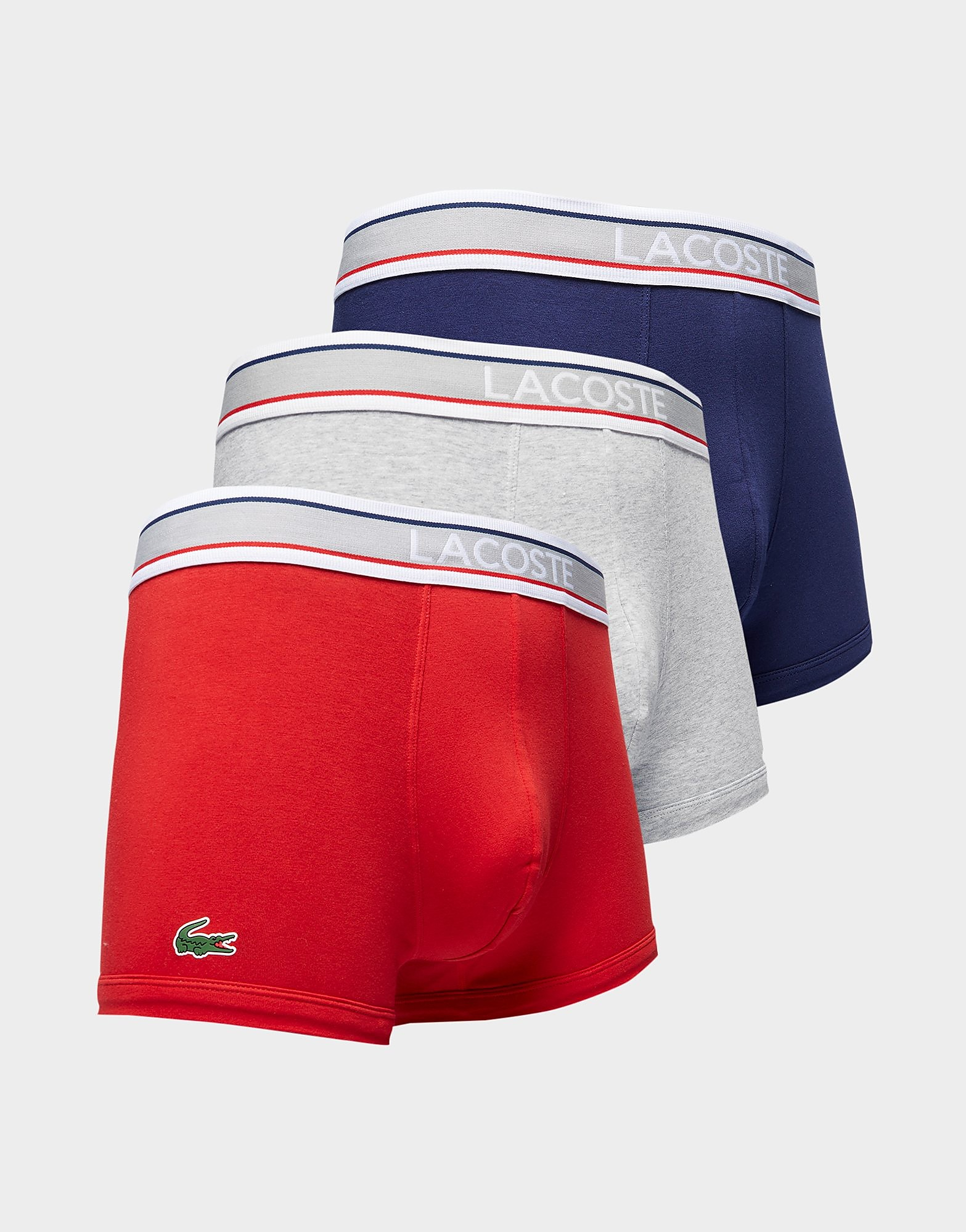 Lacoste 3 Pack Trunks Heren