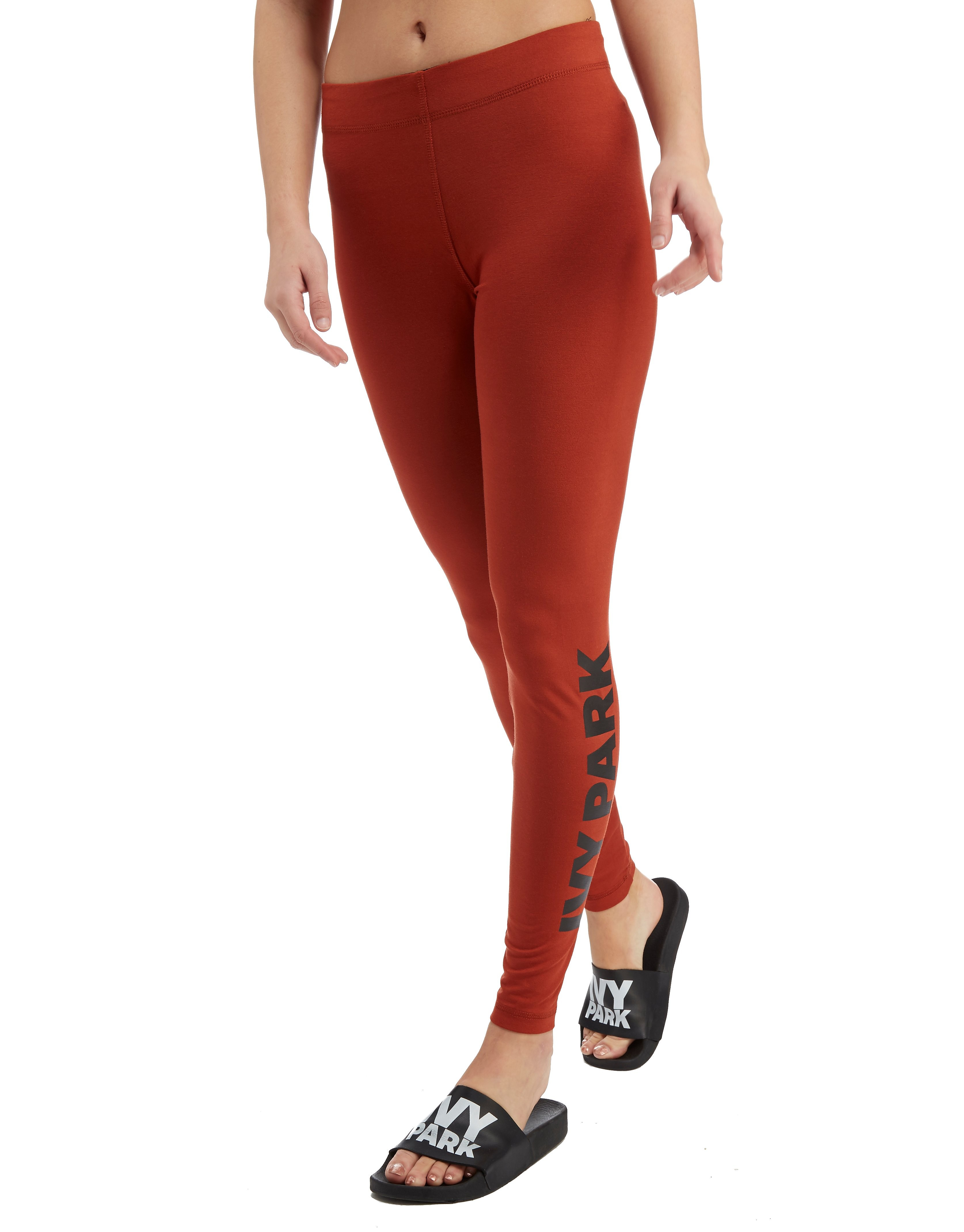 IVY PARK Leggings Logo Ankle Femme - maron, maron