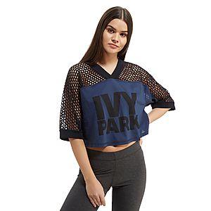 6a79b42f IVY PARK Crop Mesh Logo T-Shirt ...