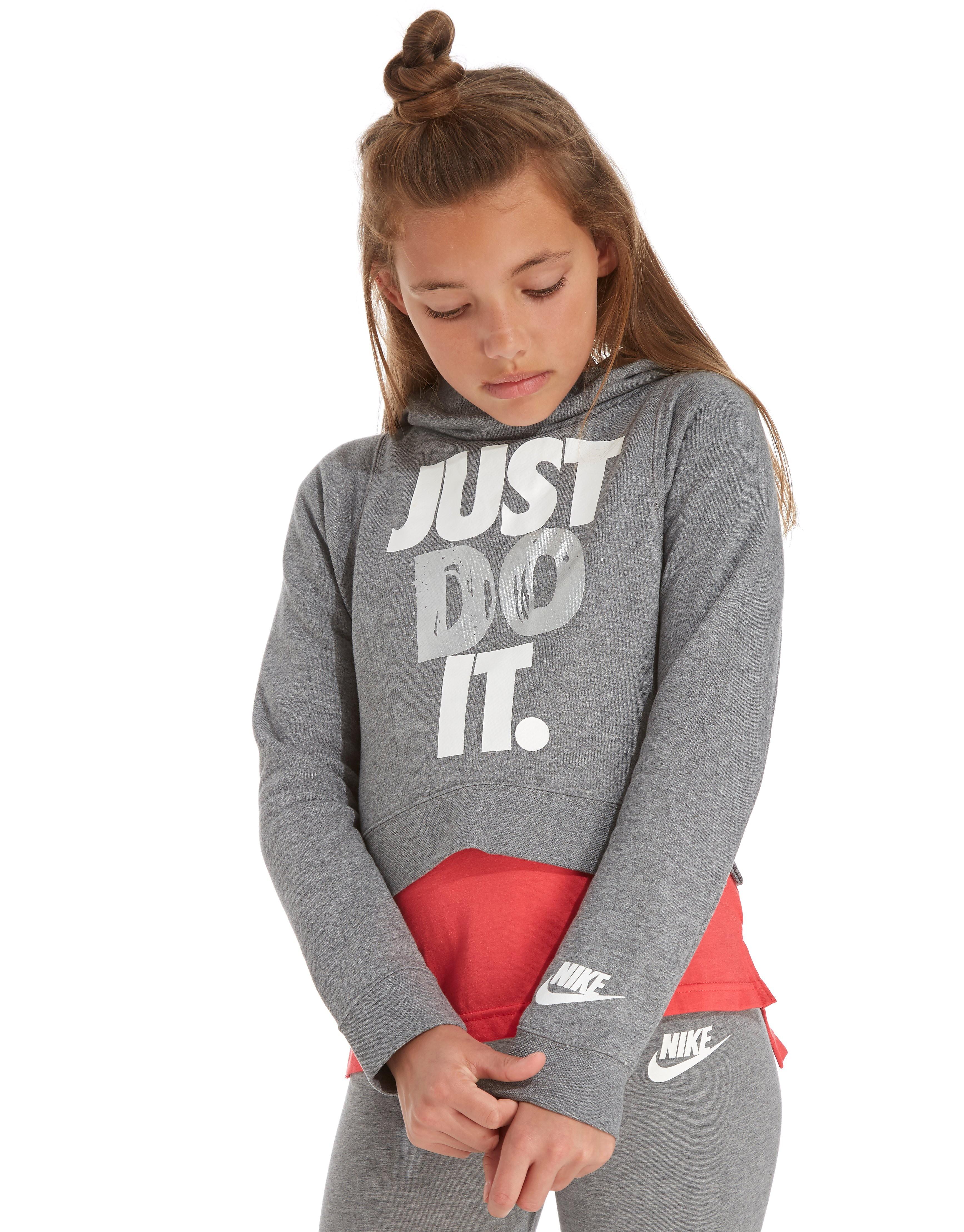 Nike Mädchen Just Do It Bauchfreier Hoodie Kinder