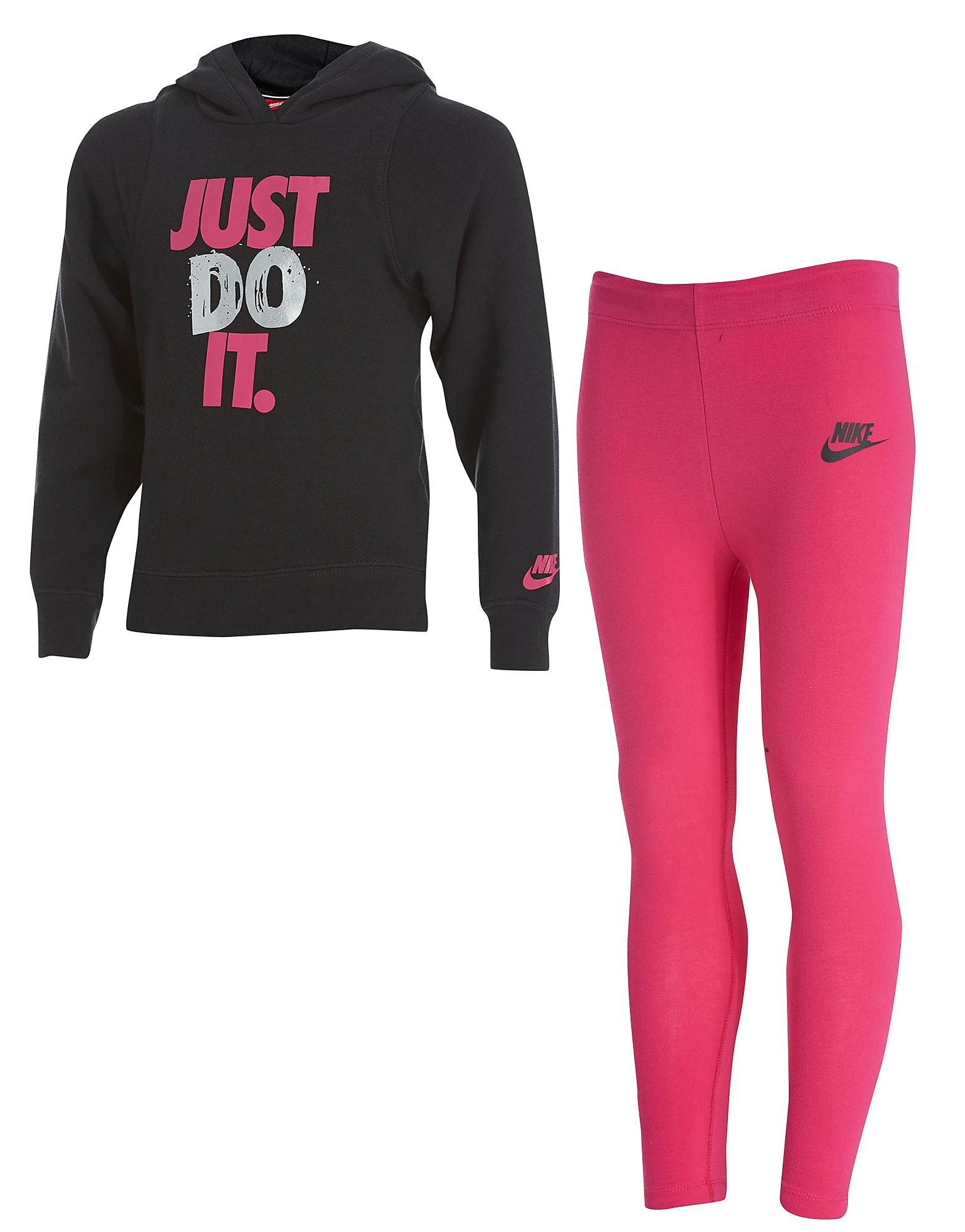 Nike conjunto de sudadera y leggings Just Do It infantil