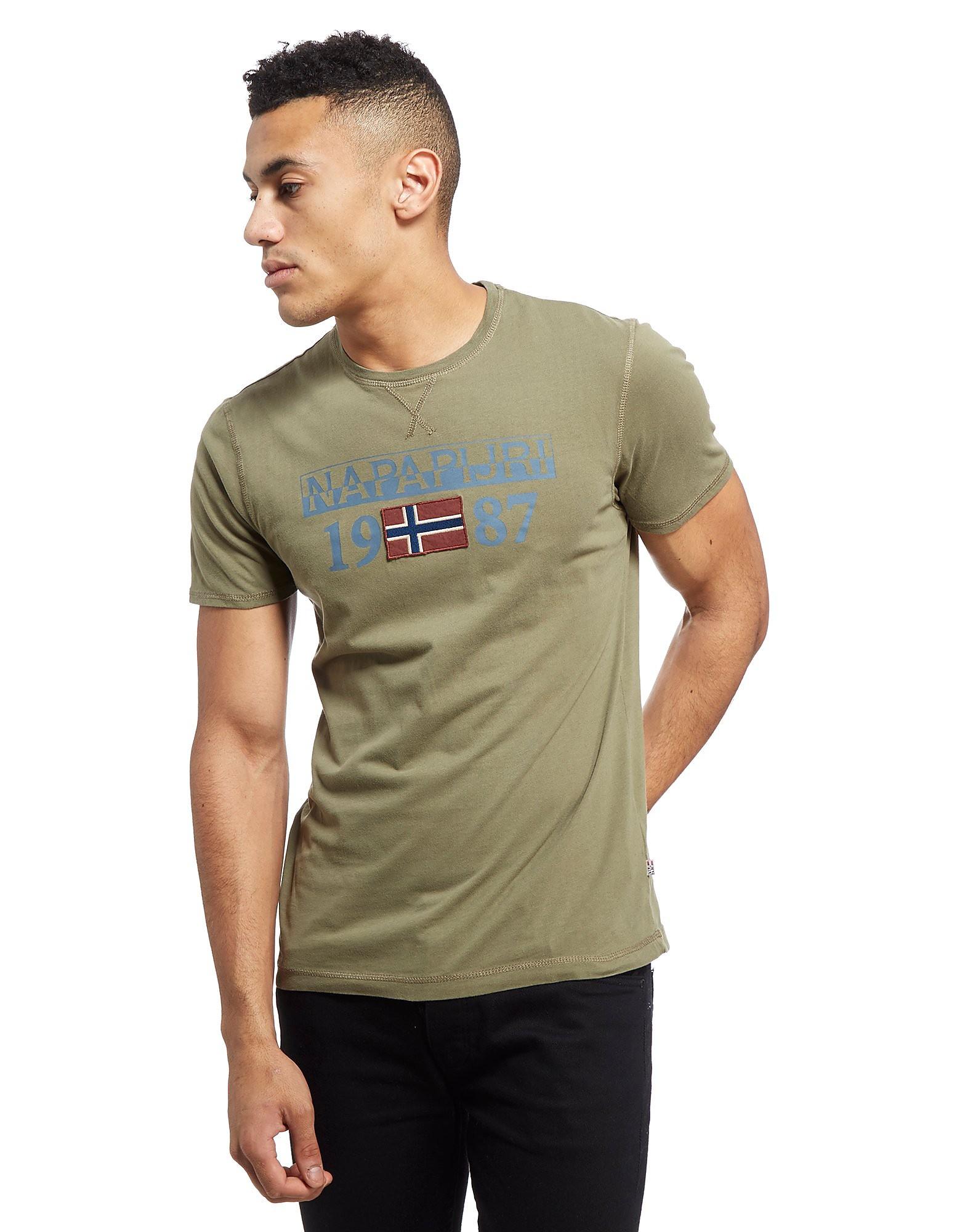 Napapijri Core Logo Short Sleeve T-Shirt - Green, Green