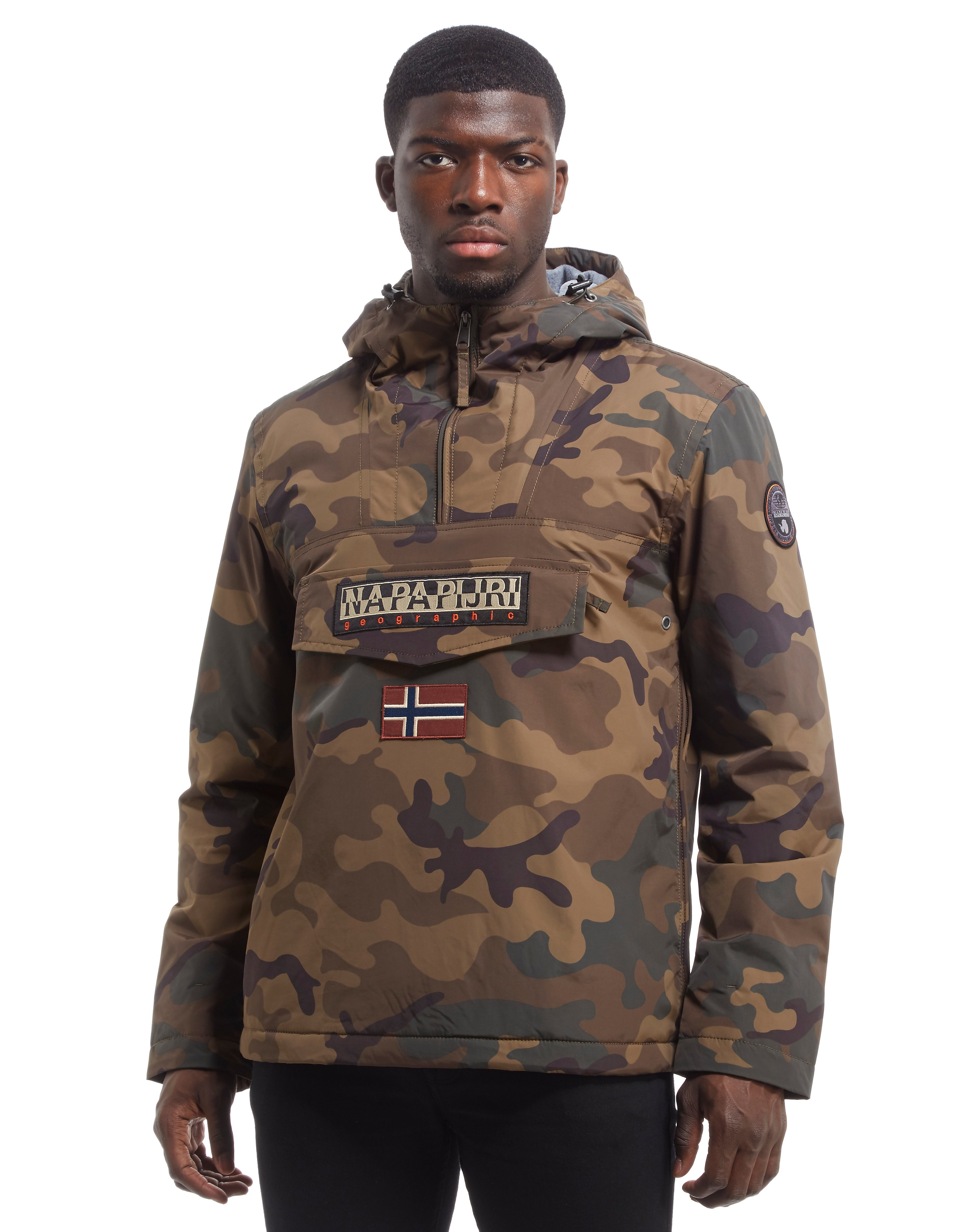 Napapijri Rainforest Camo Overhead 1/4 Zip Jacket