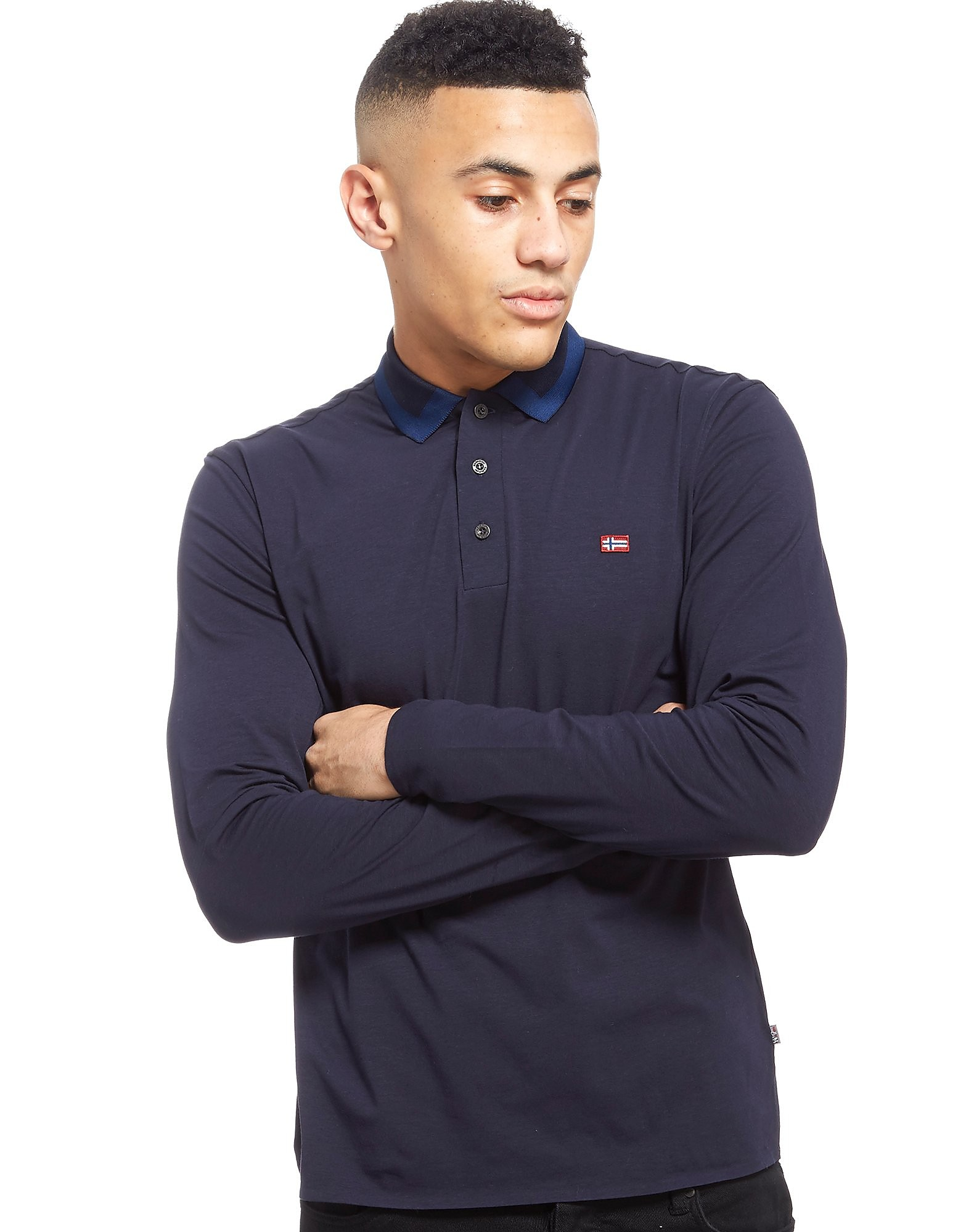 Napapijri Elim Long Sleeve Polo Shirt Heren