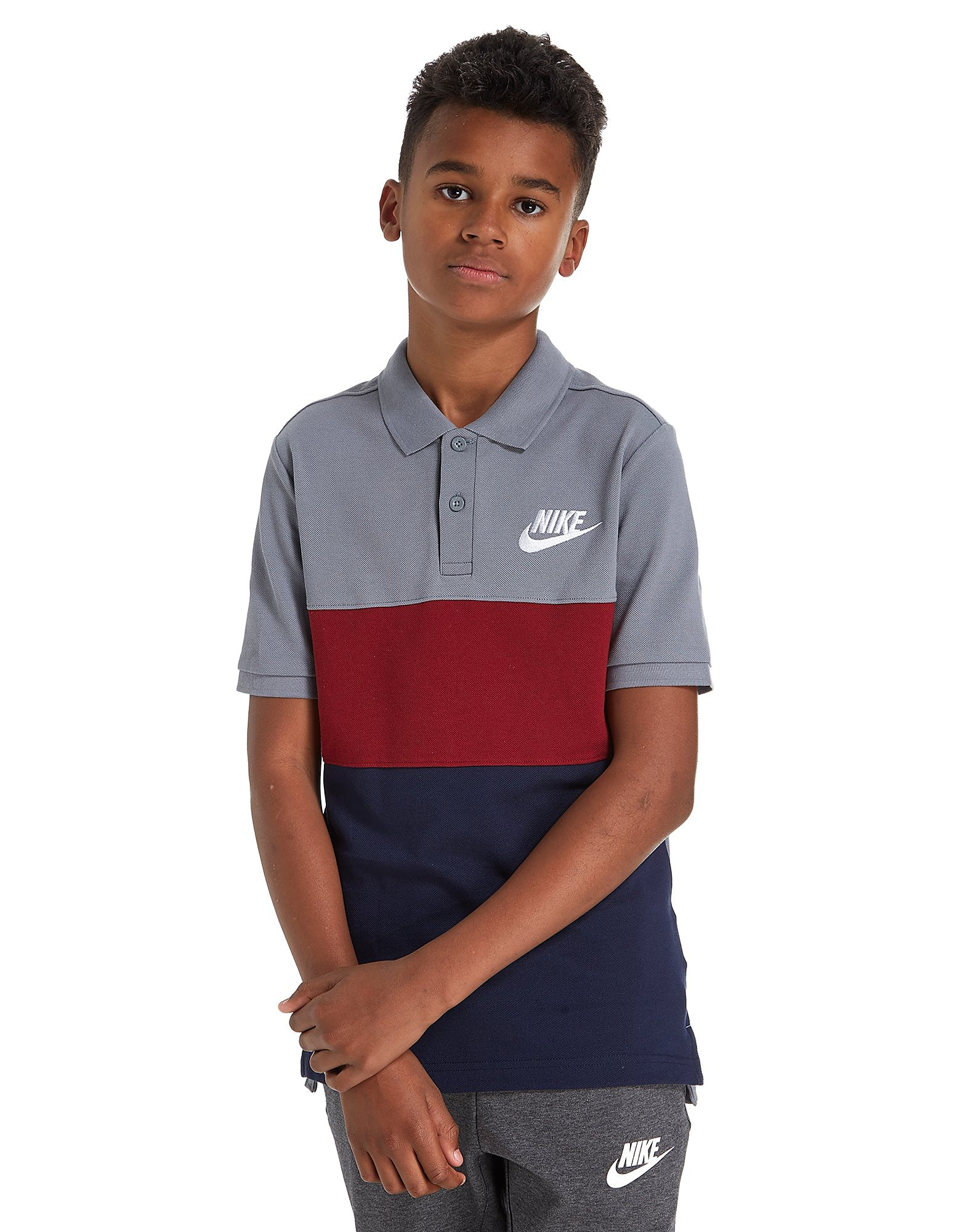 Nike Colour Block Polo Shirt Junior