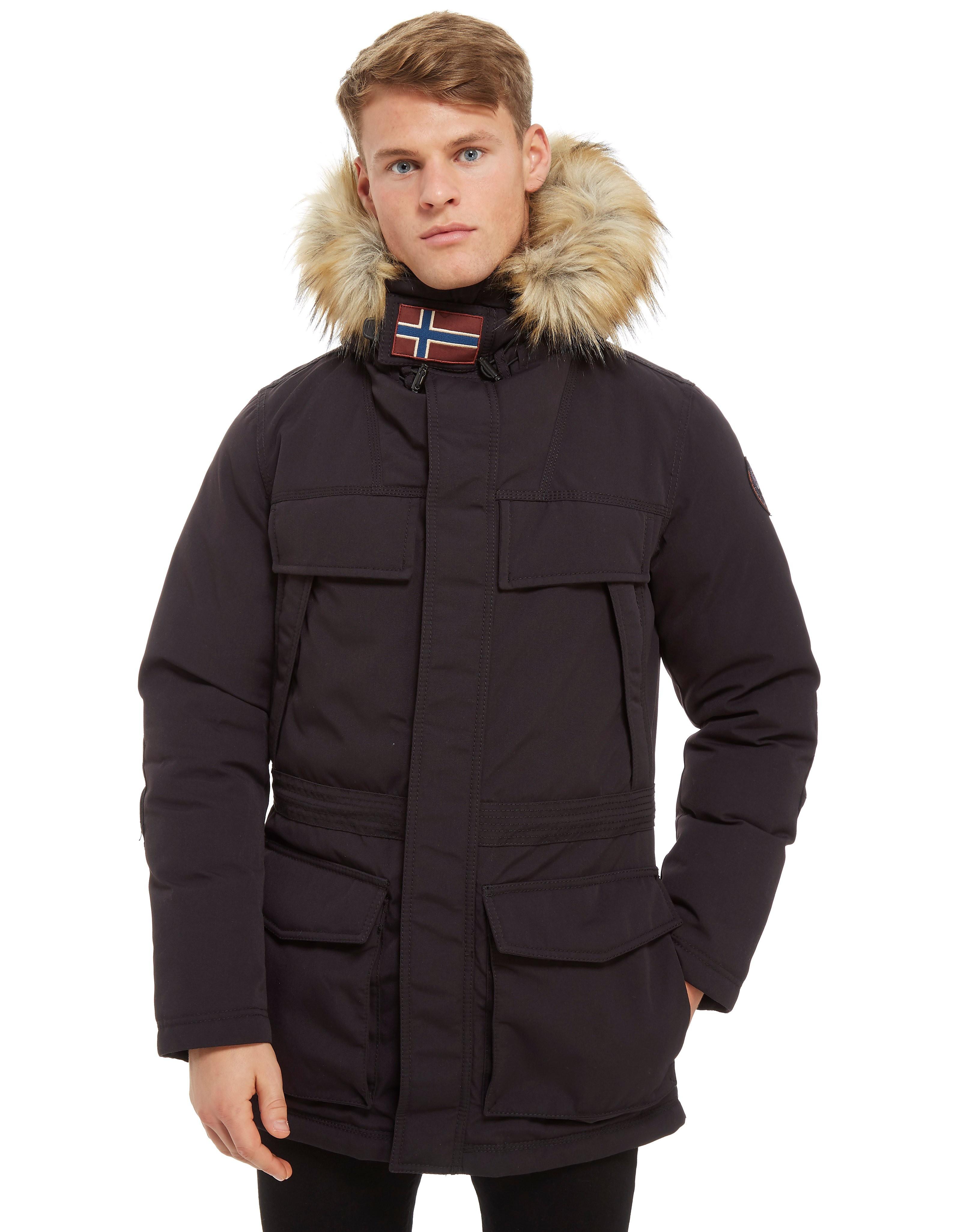 Napapijri Skidoo Long Zip Through Parka Jacket
