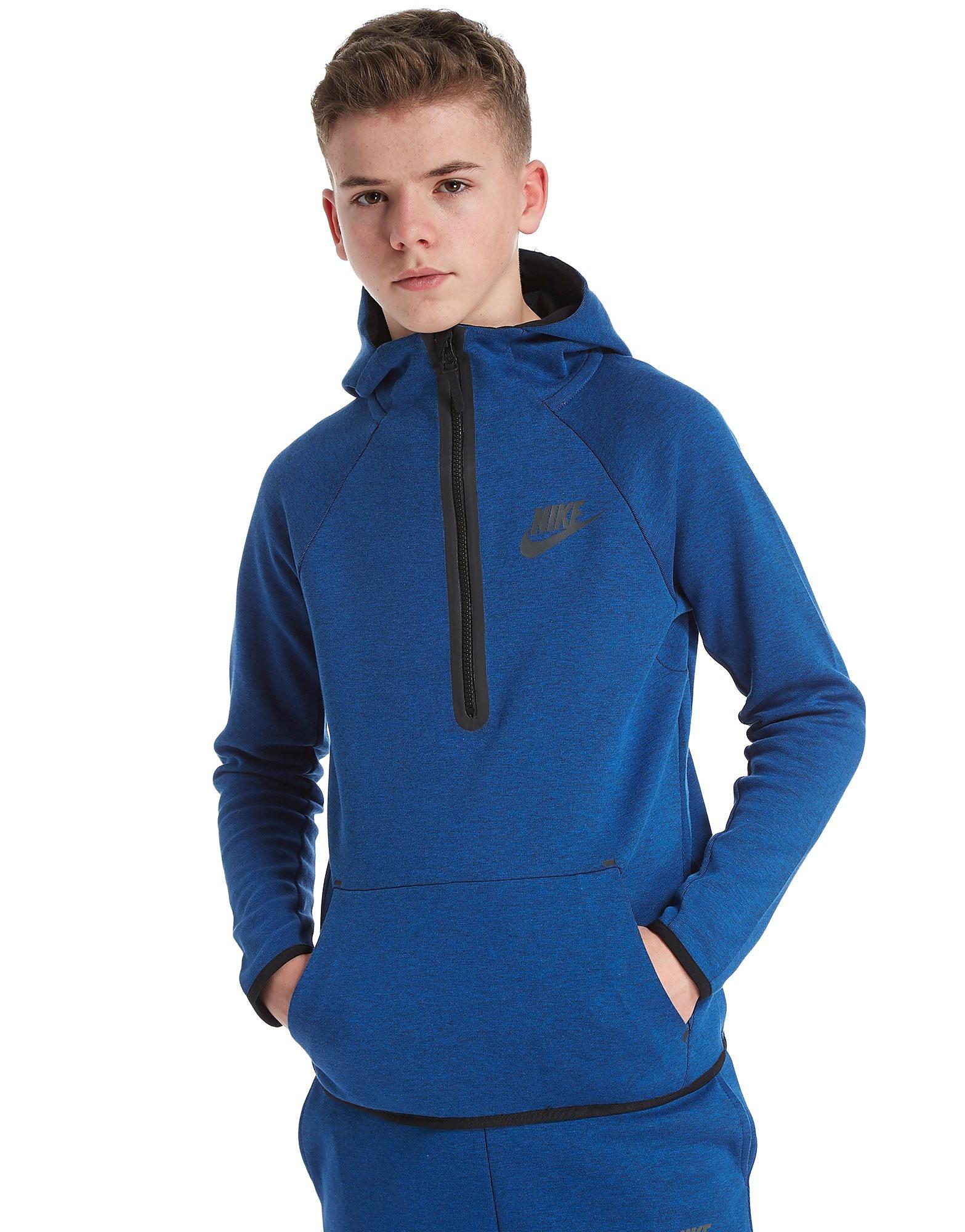 Nike Tech 1/4 Zip Felpa con Cappuccio Junior