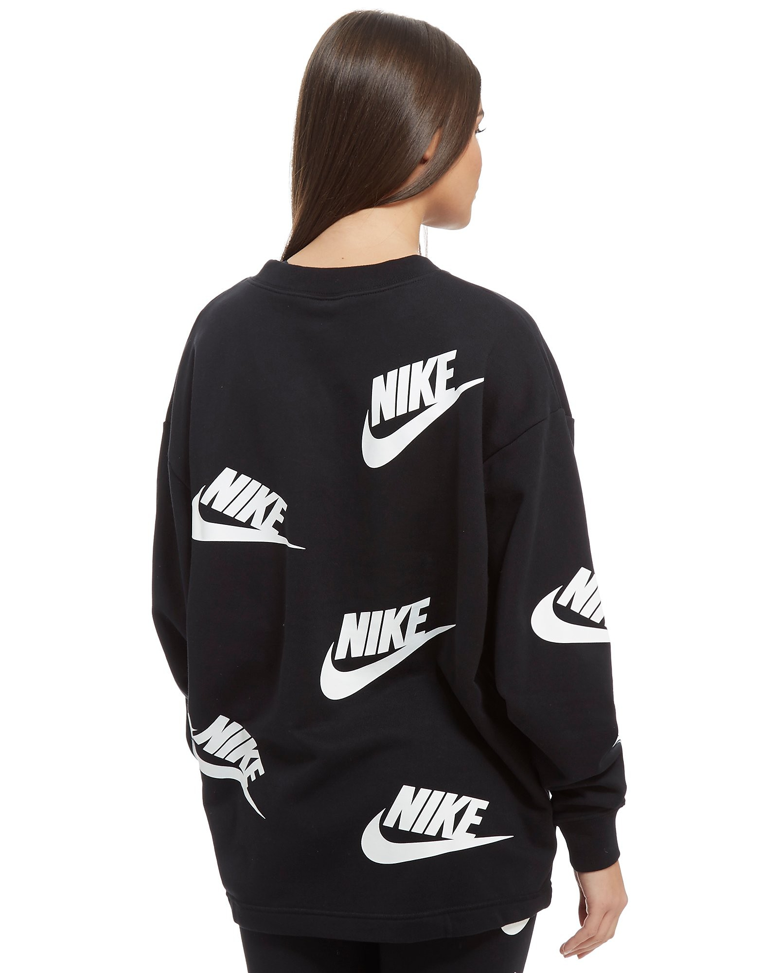 Nike All Over Print Futura Felpa Oversize