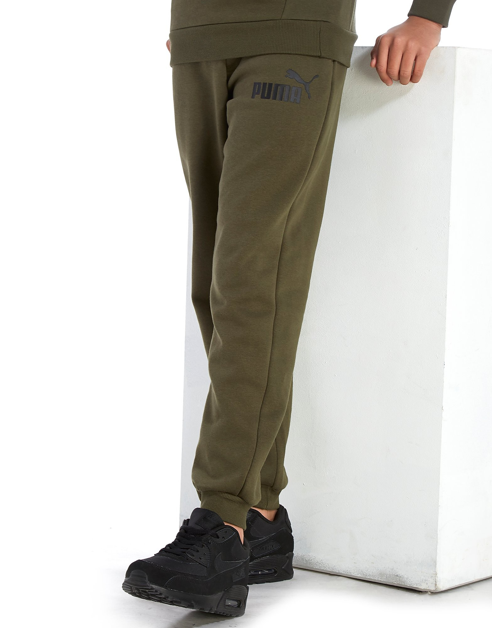PUMA Core Logo Track Pants Junior - Olive/Black - Kind