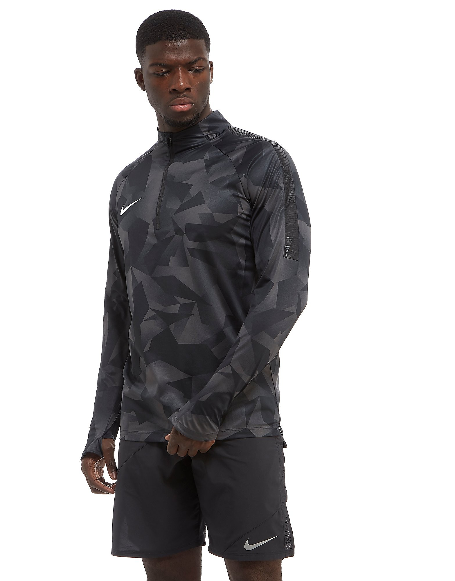 Nike Squad AOP Drill Top Heren