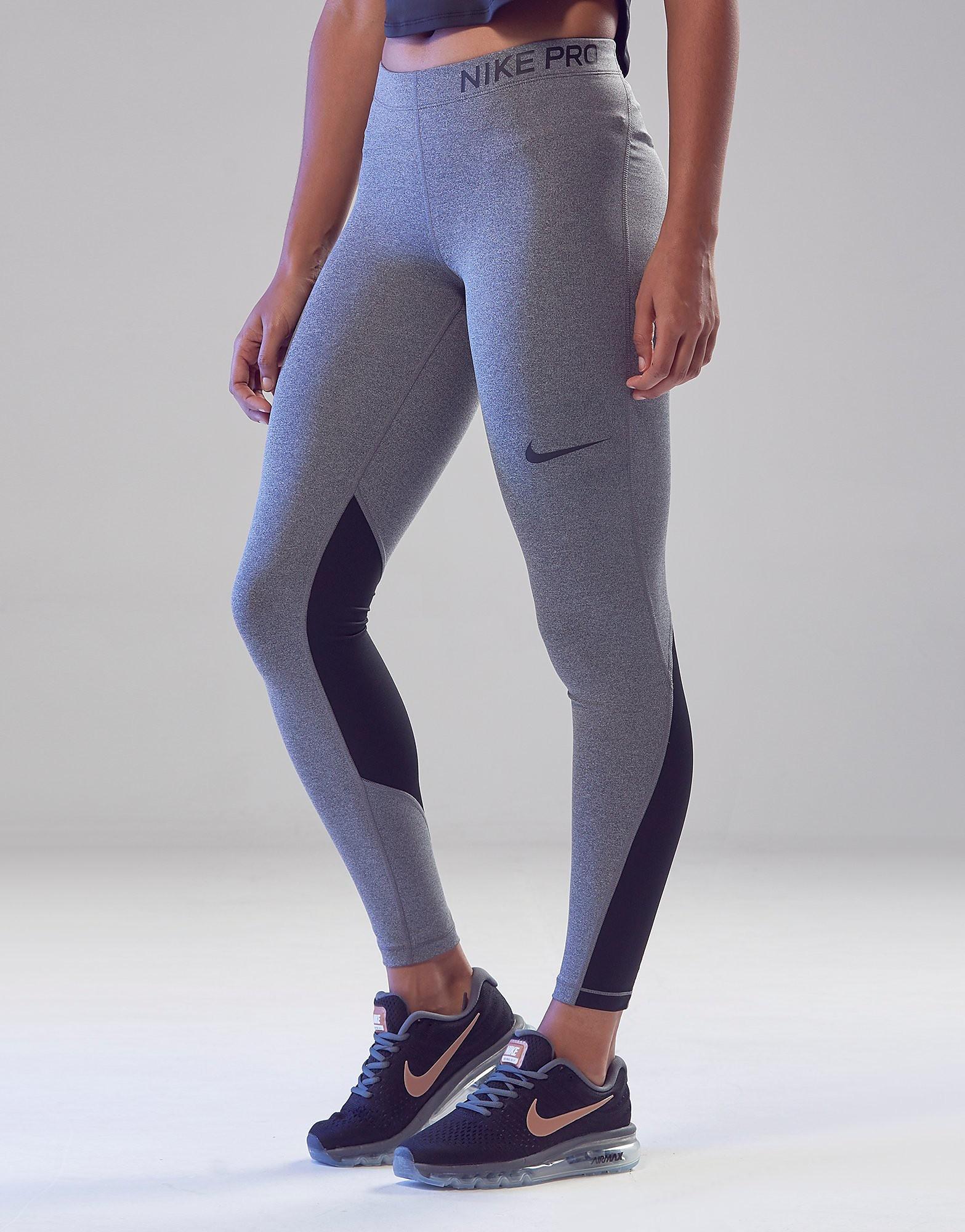 Nike Pro Leggings Dames - Grijs - Dames