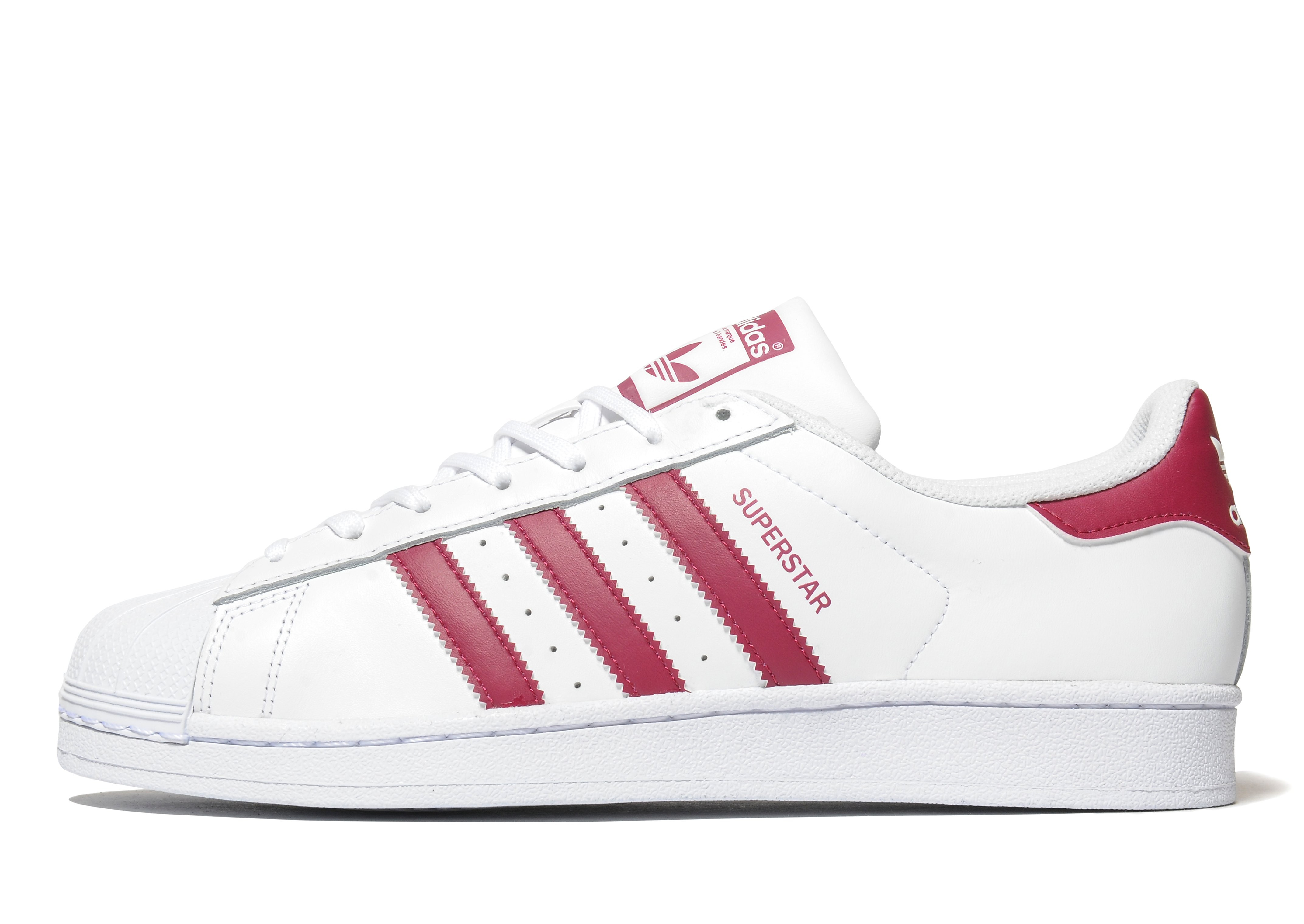 adidas Originals Superstar Weiß-Burgunderrot