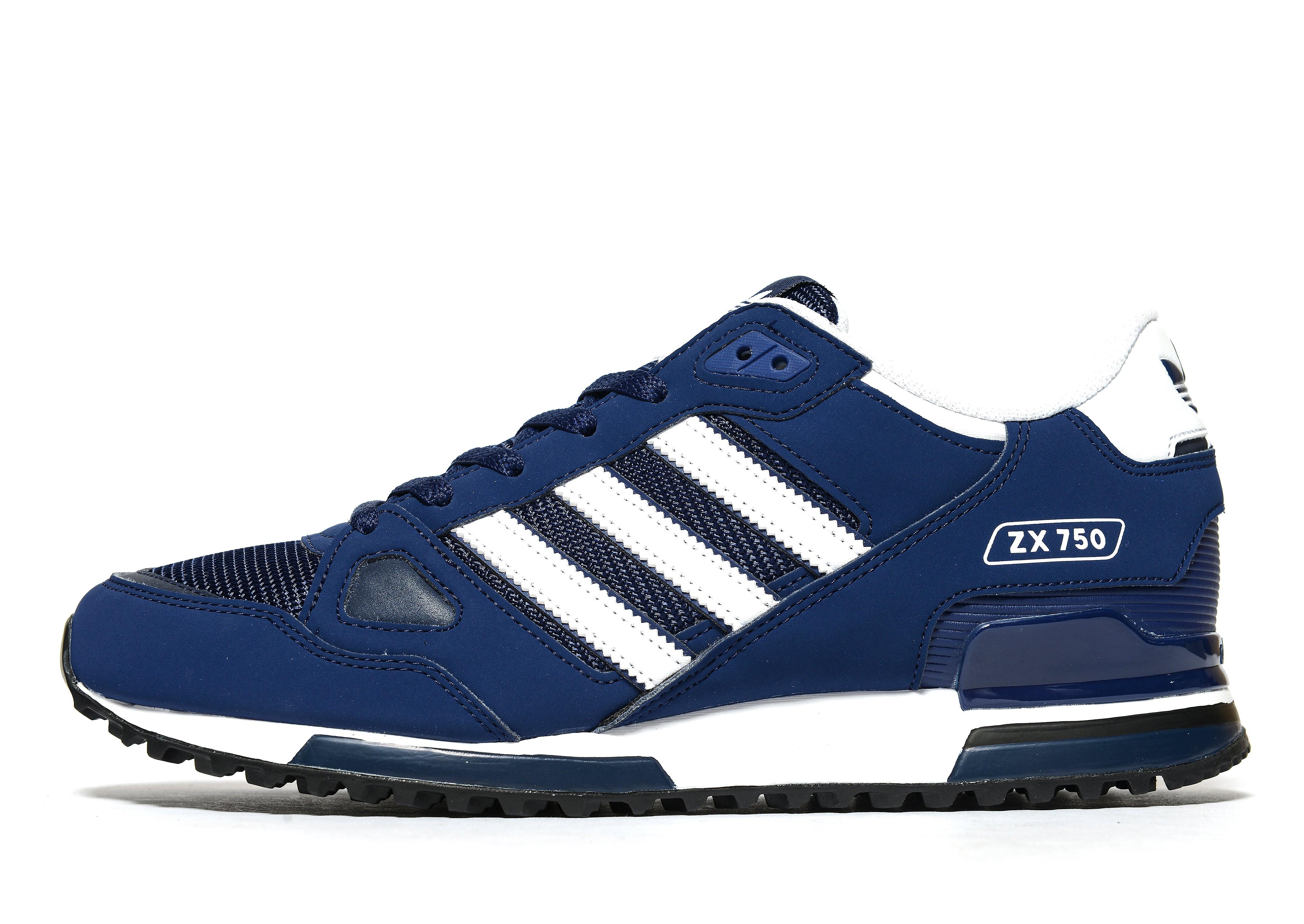 Adidas ZX 750 herensneaker blauw, zwart en wit