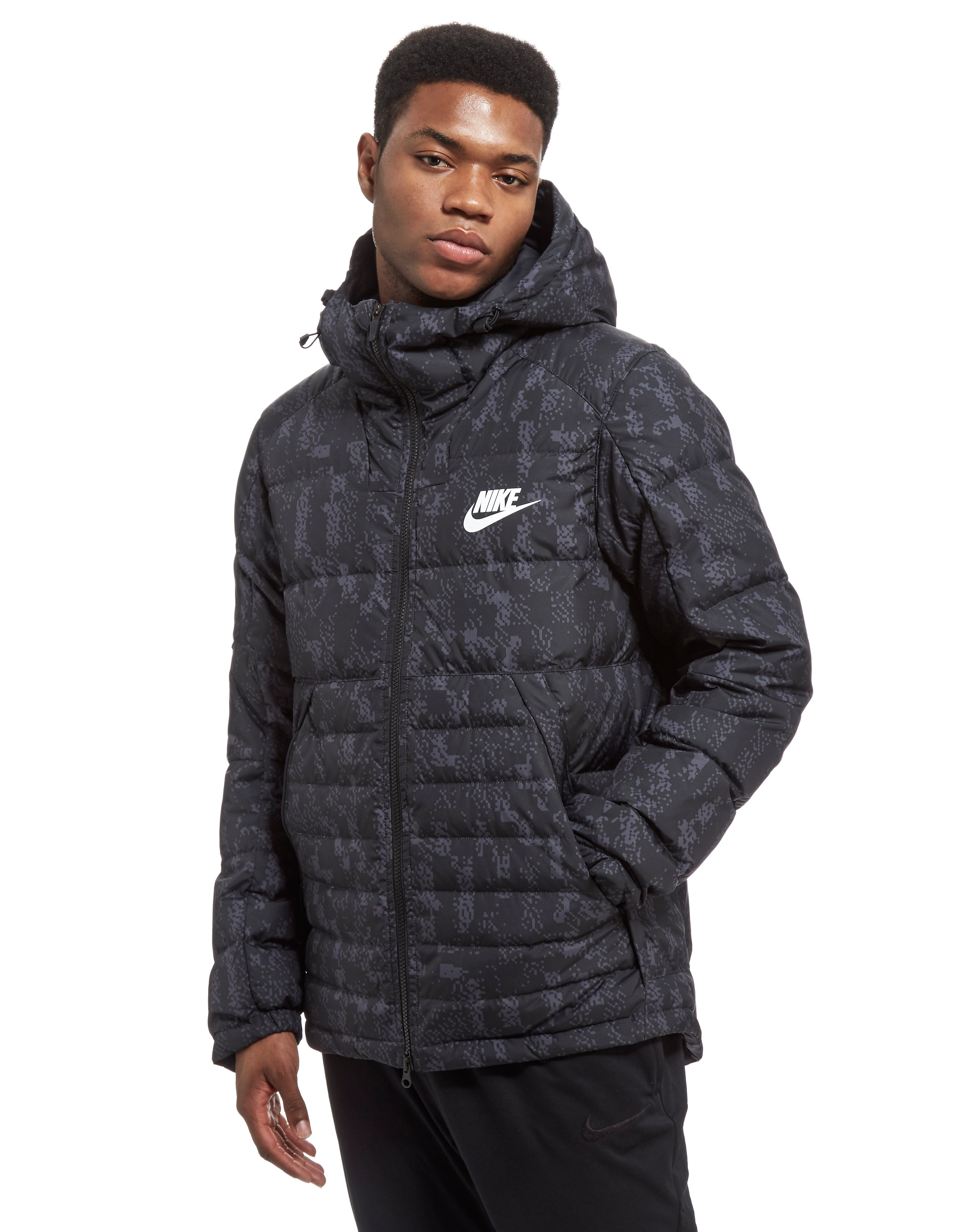 Nike Printed Down Fill Hooded Jacket