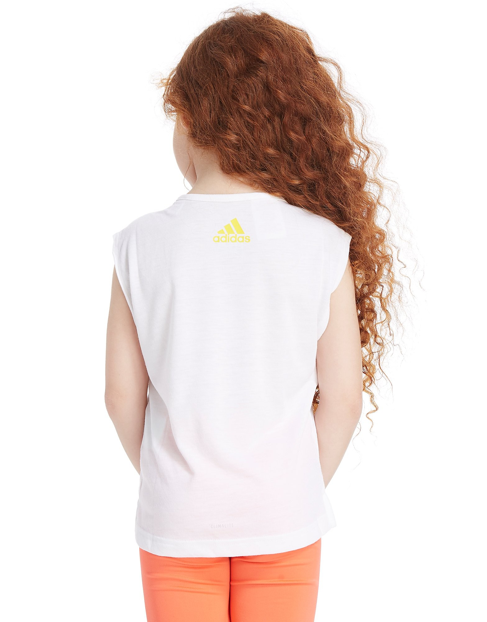 adidas Girls' Print Sleeveless T-Shirt Children