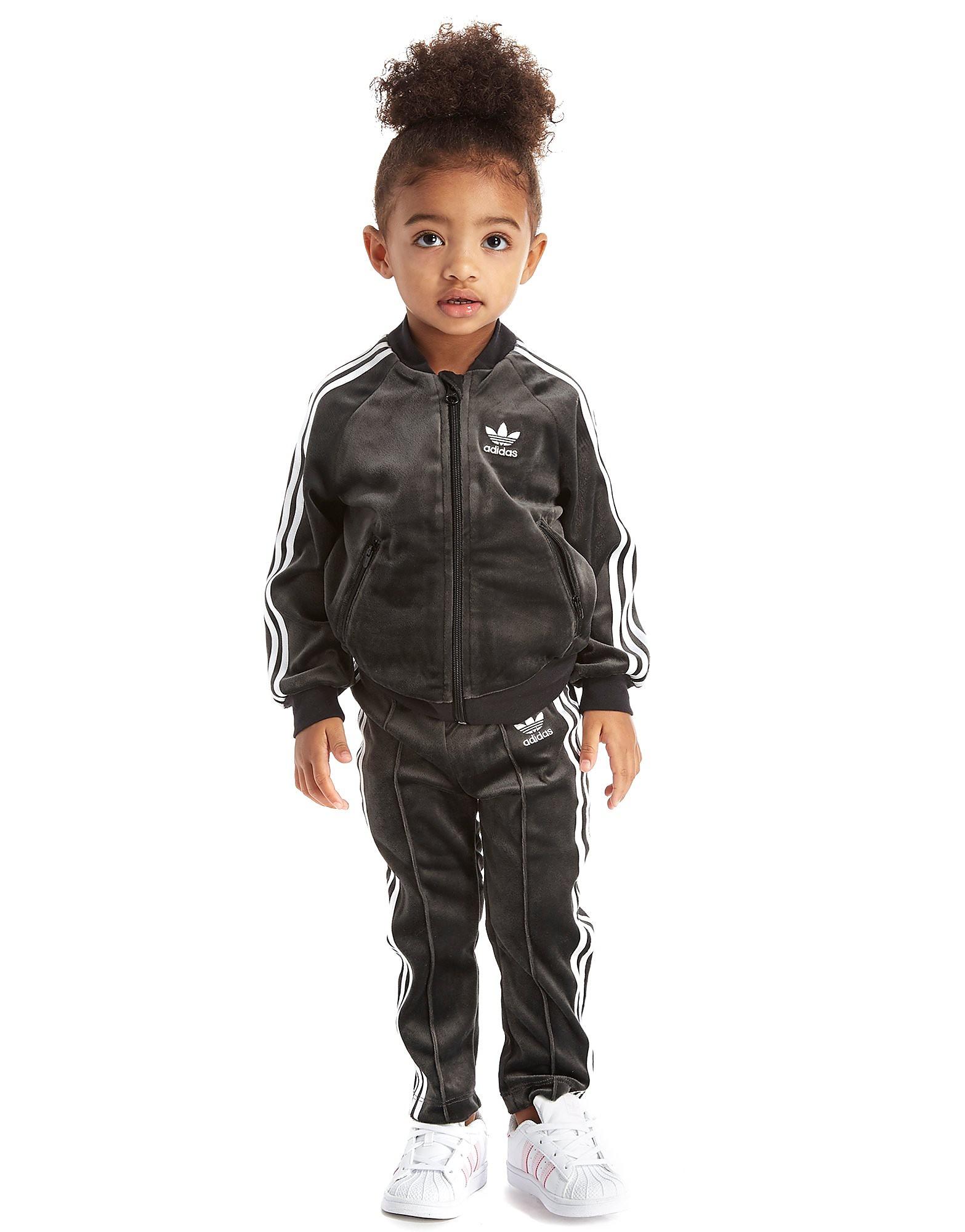 adidas Originals Girls' Velour Superstar Tracksuit Infant