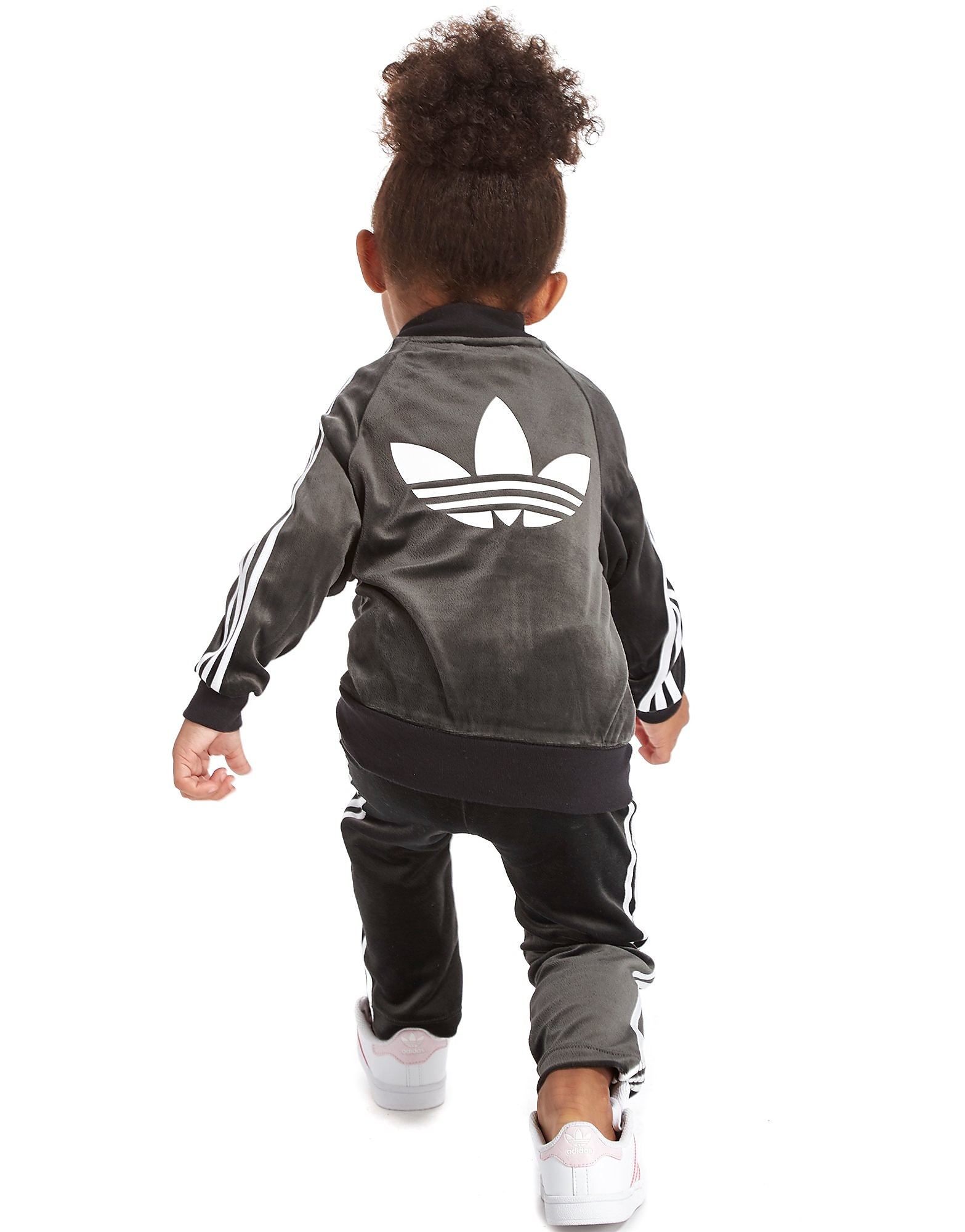 adidas Originals Girls' Velour Superstar Tracksuit Infant