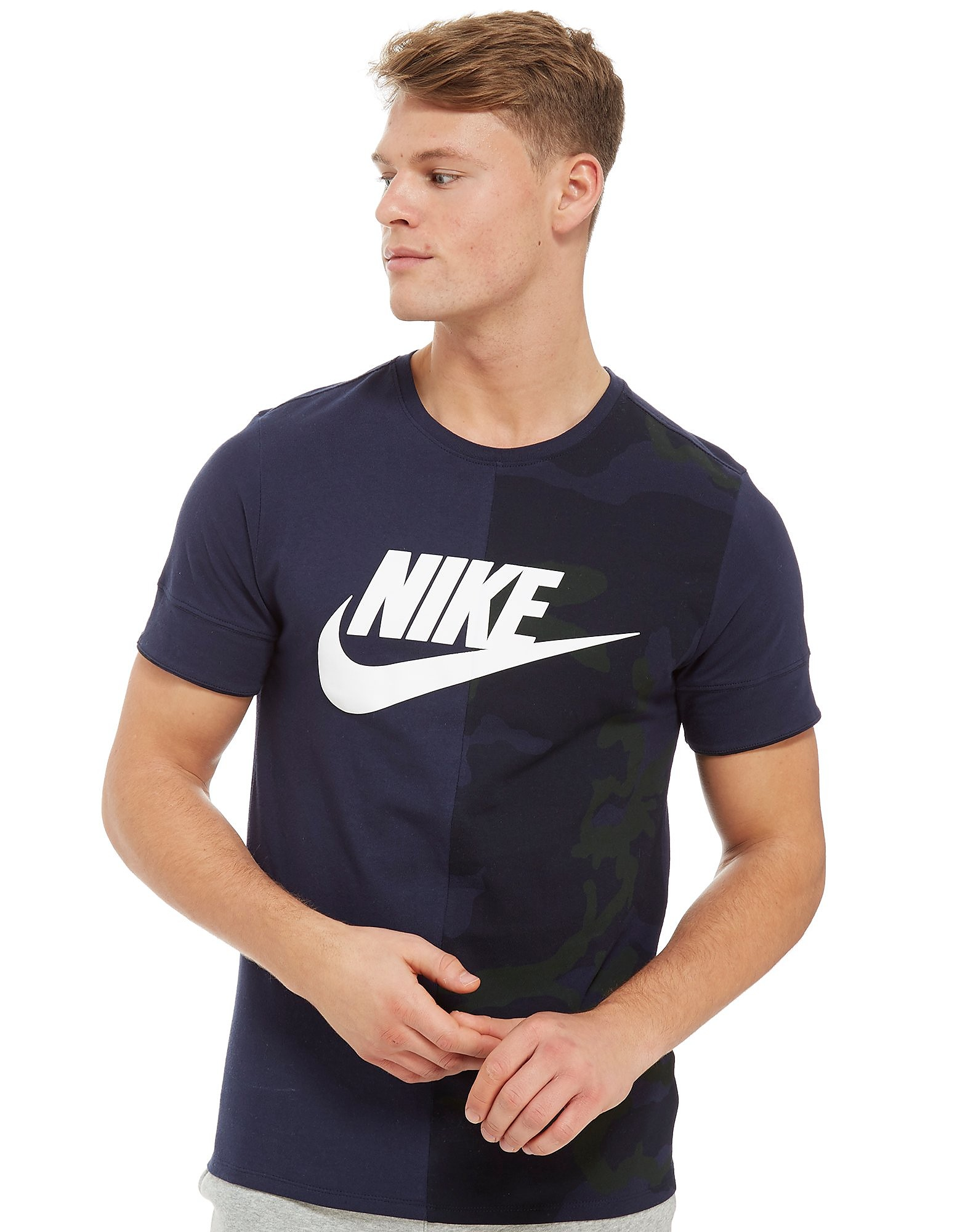 Nike Camo Split T-Shirt Heren