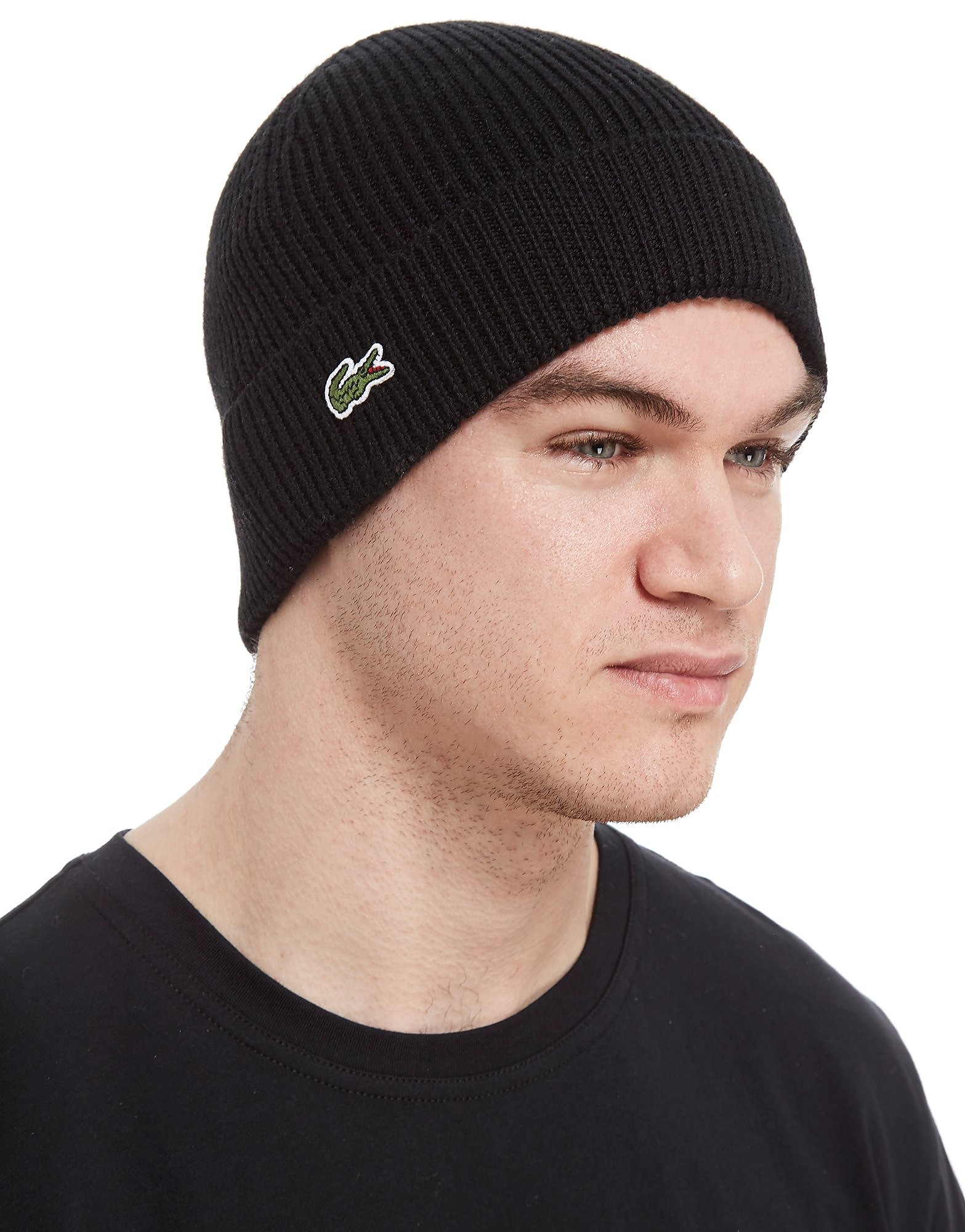Lacoste Cuffed Beanie Hat