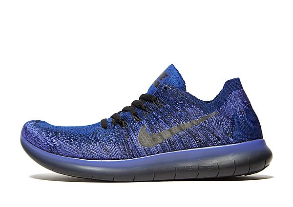 quality design 4d105 23f5a Nike Free RN Flyknit 2017 - Deep Royal Blue/Black/Persian Violet Kids