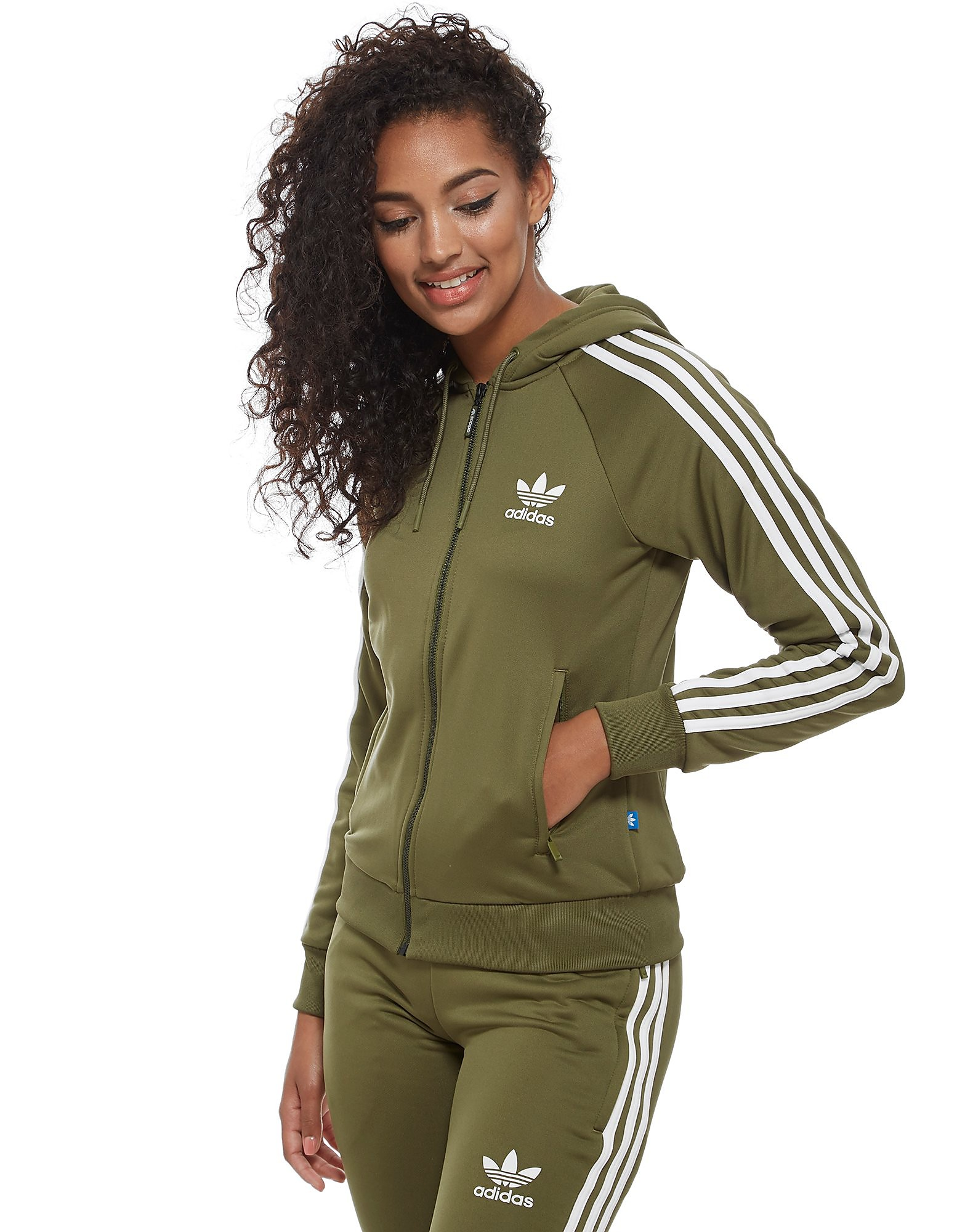 adidas Originals 3-Stripes Full Zip - Huvtröja